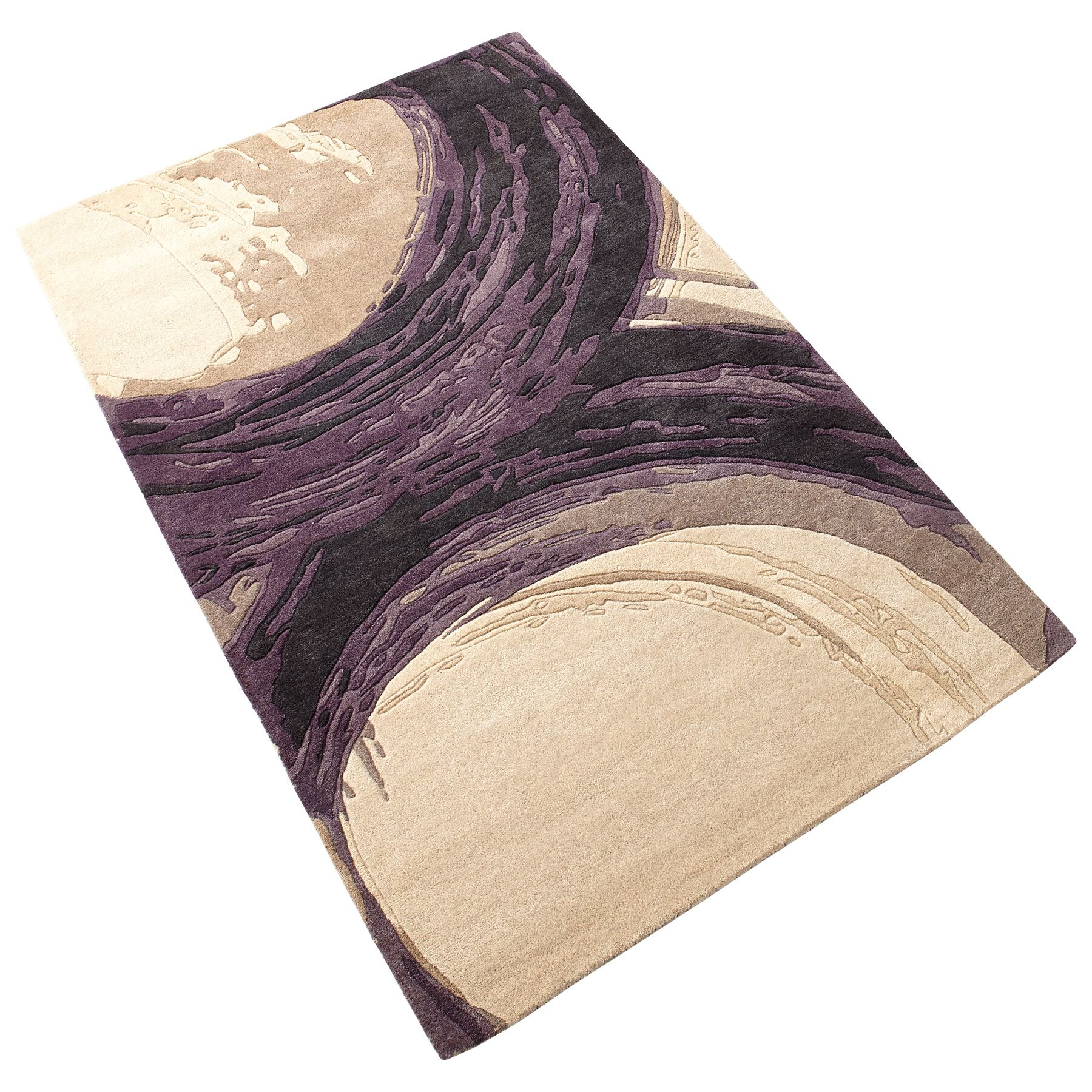 Percival Hand-Tufted Purple/Ivory Area Rug Rug Size: 7'10