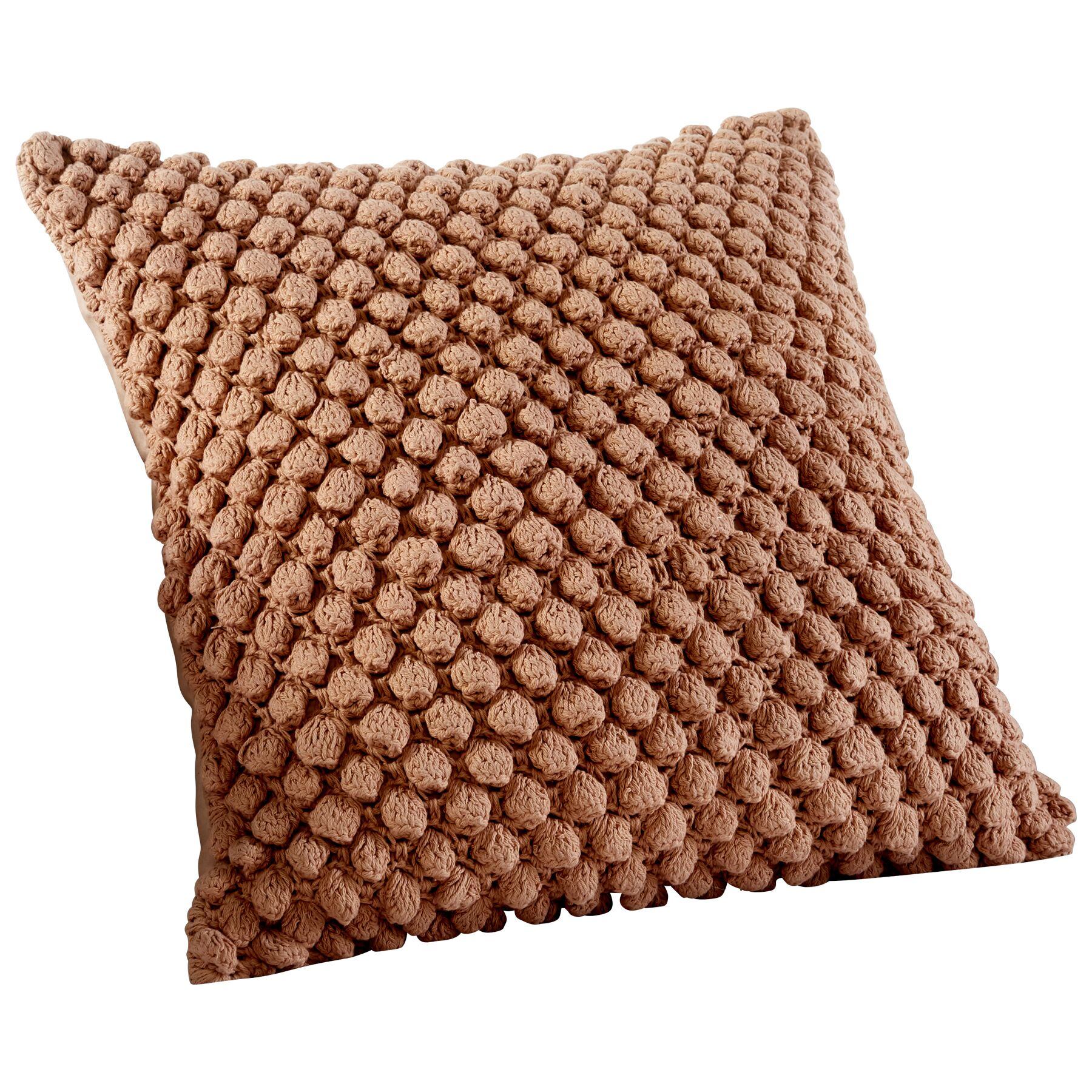 Bulle Knit Decorative Cotton Throw Pillow Color: Beige