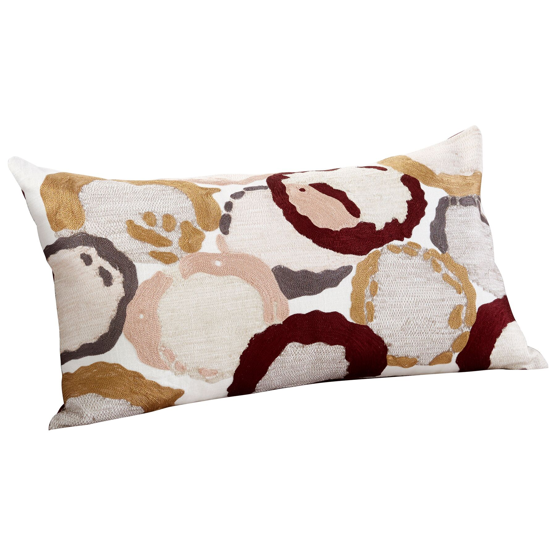 Neopolitan Decorative Cotton Lumbar Pillow