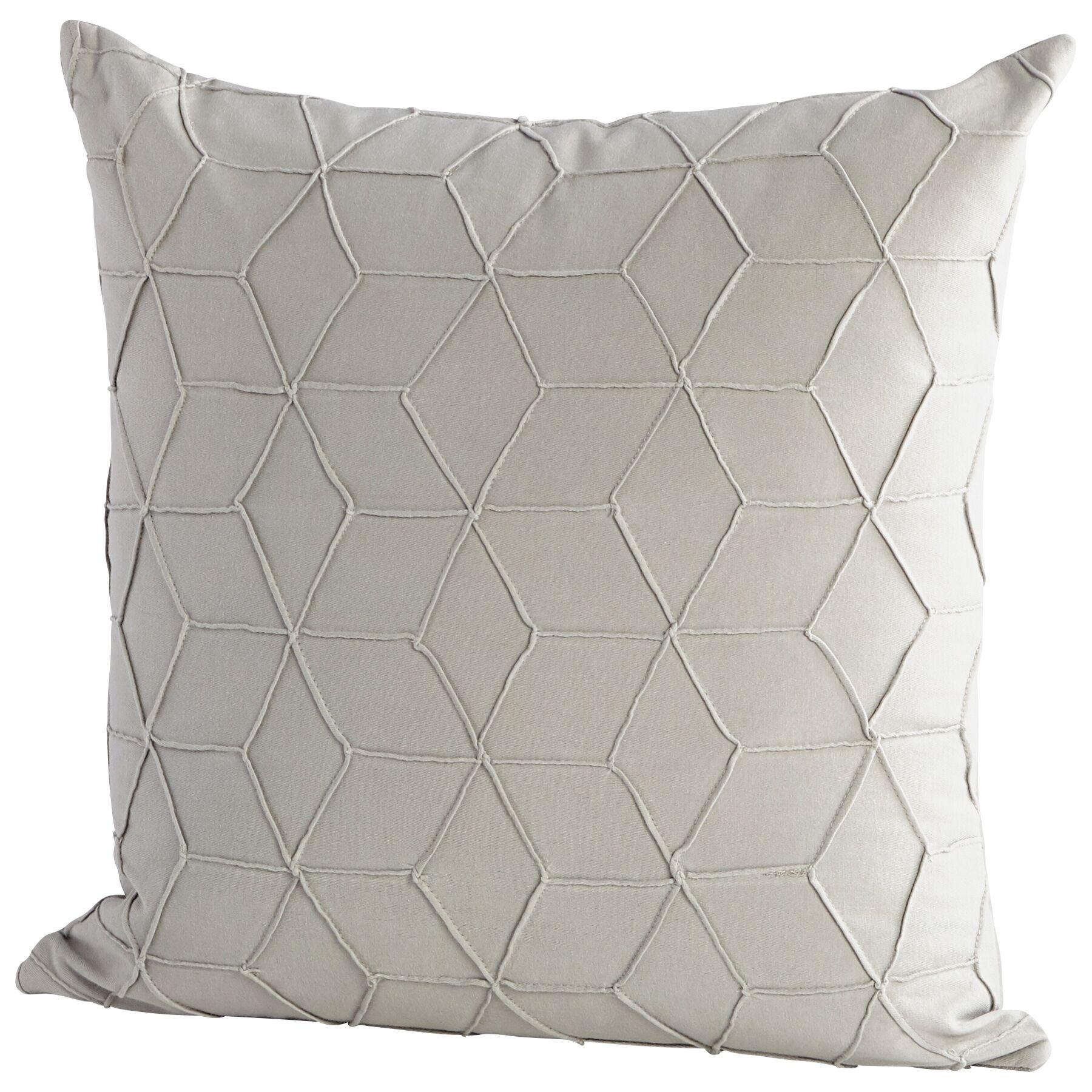 Zeta Decorative Cotton Throw Pillow Color: Gray