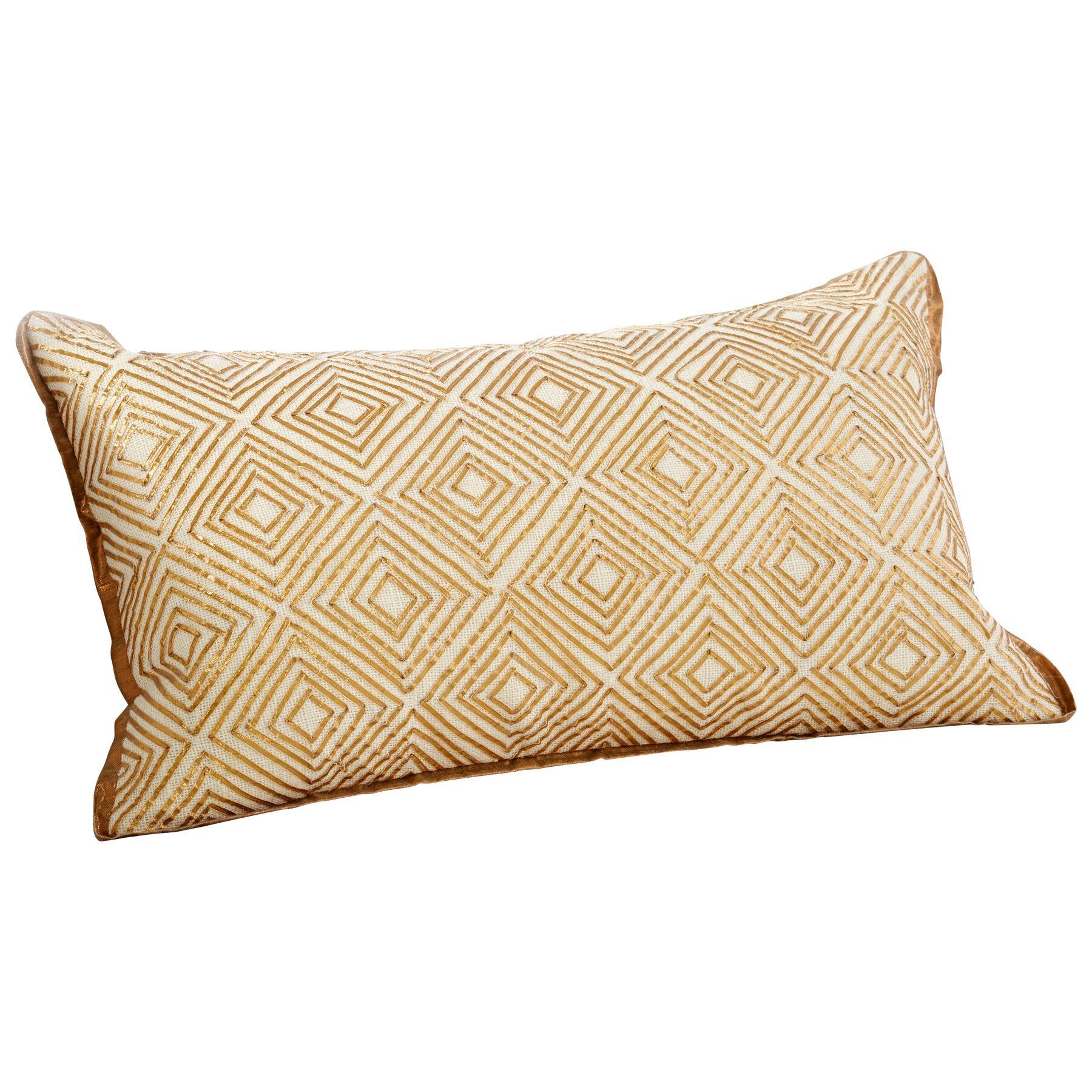 Labyrinth Decorative Cotton Lumbar Pillow