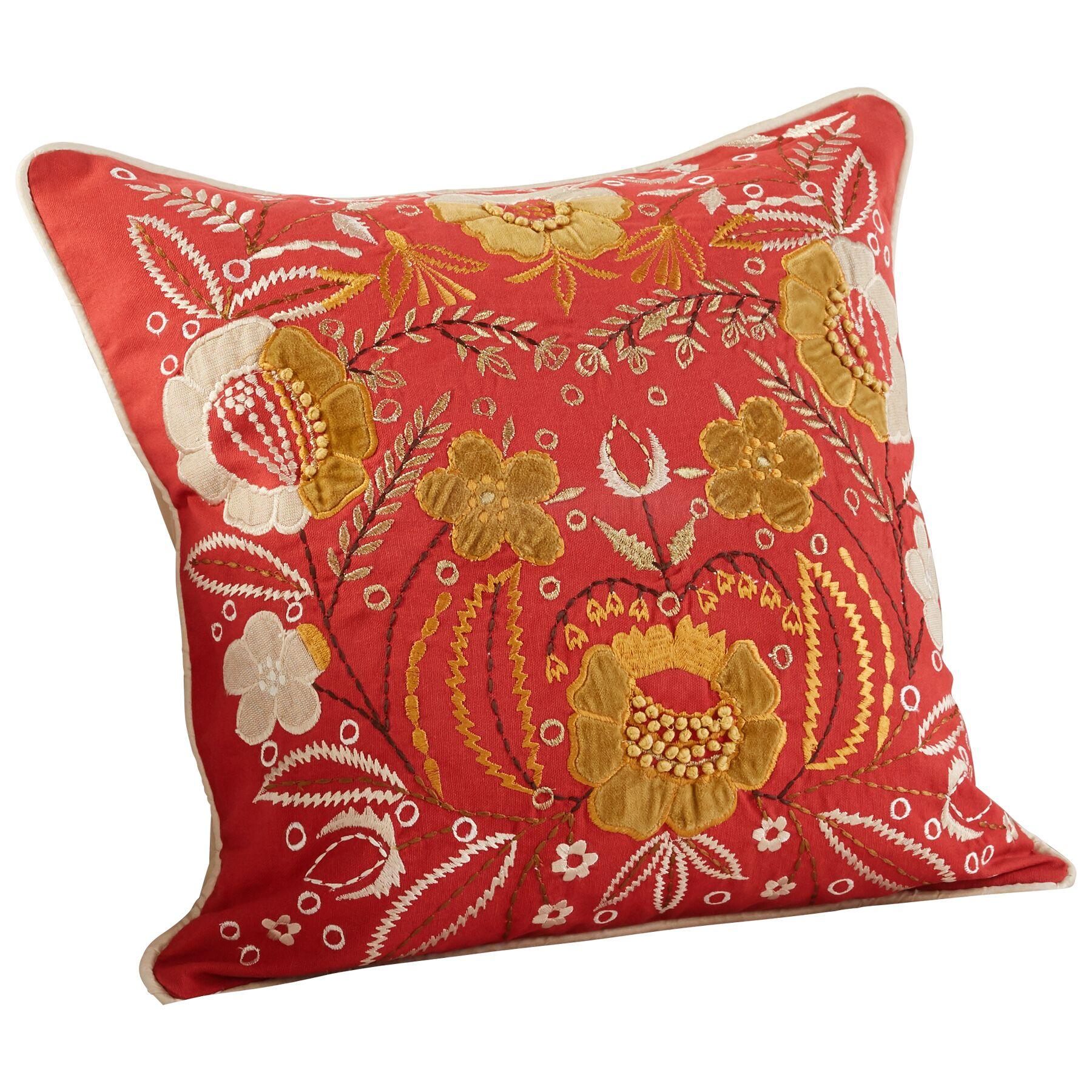 Frida Decorative Cotton Throw Pillow