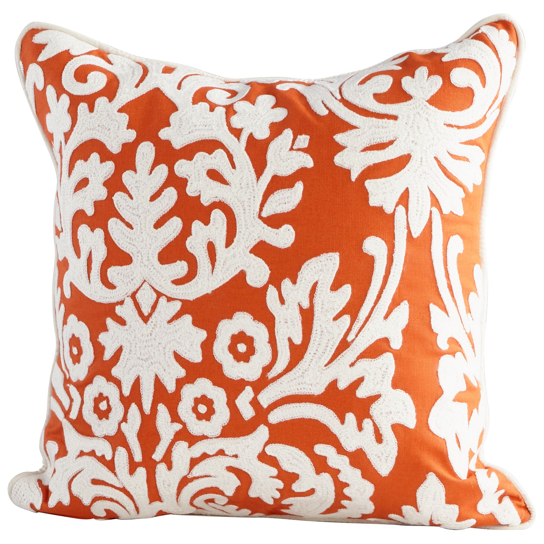 Nouveau Damask Decorative Cotton Throw Pillow