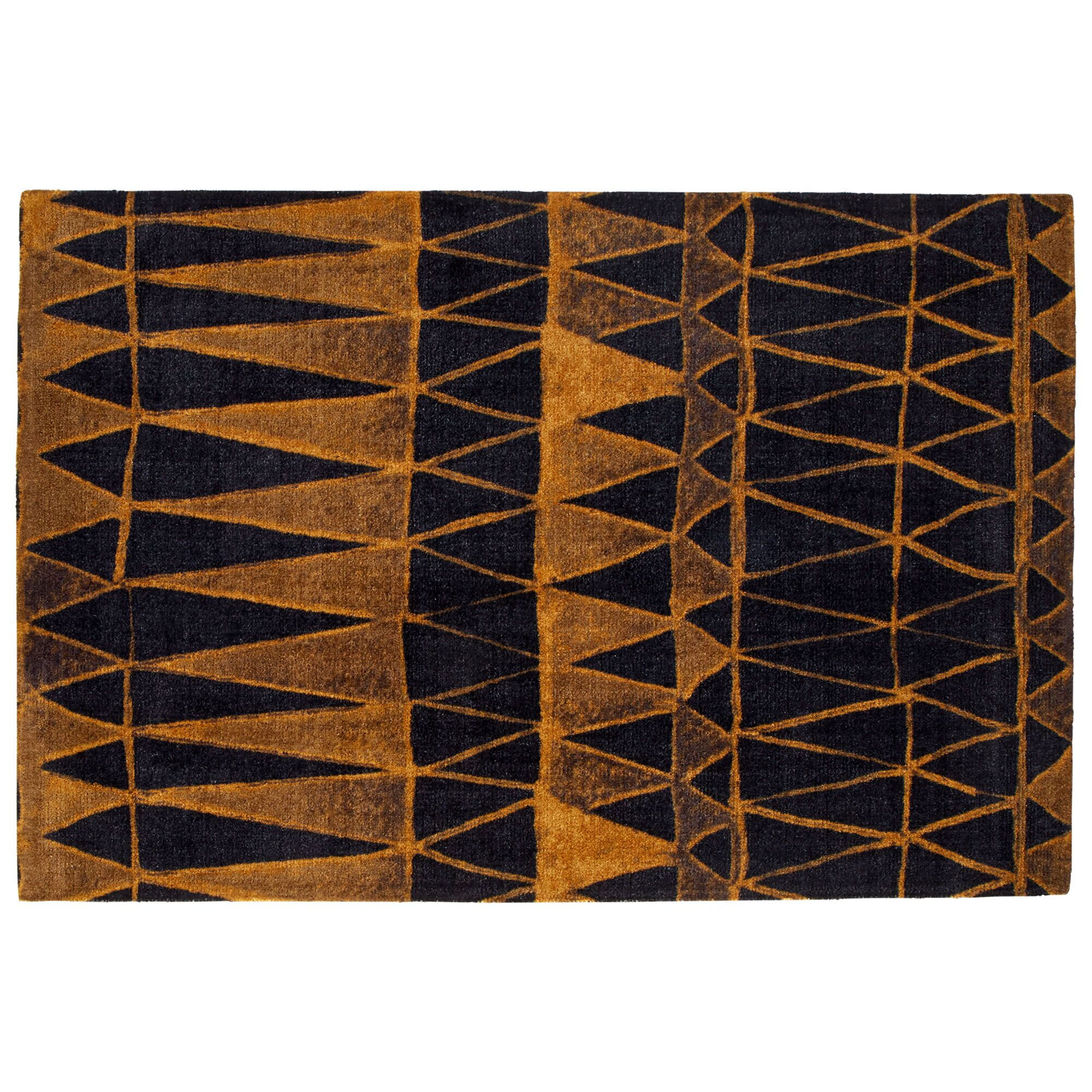 Marrakech Black/Gold Area Rug Rug Size: Rectangle 6' W x 8