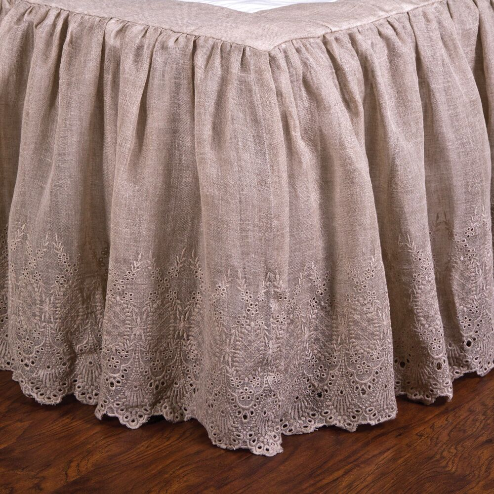 Annabelle Bed Skirt Color: Flax, Size: Queen