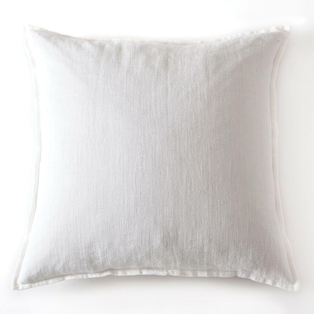 Montauk Linen Euro Pillow Color: Pure White