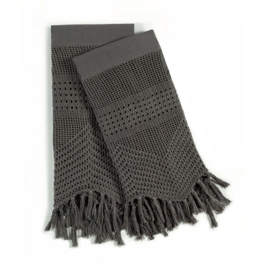 Vintage Crochet Pillow Case Size: Standard, Color: Midnight