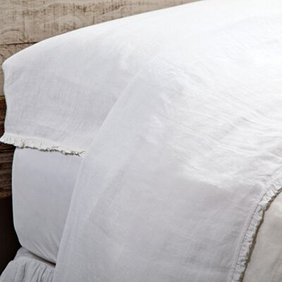 Charlie Pillow Case Size: Standard, Color: White
