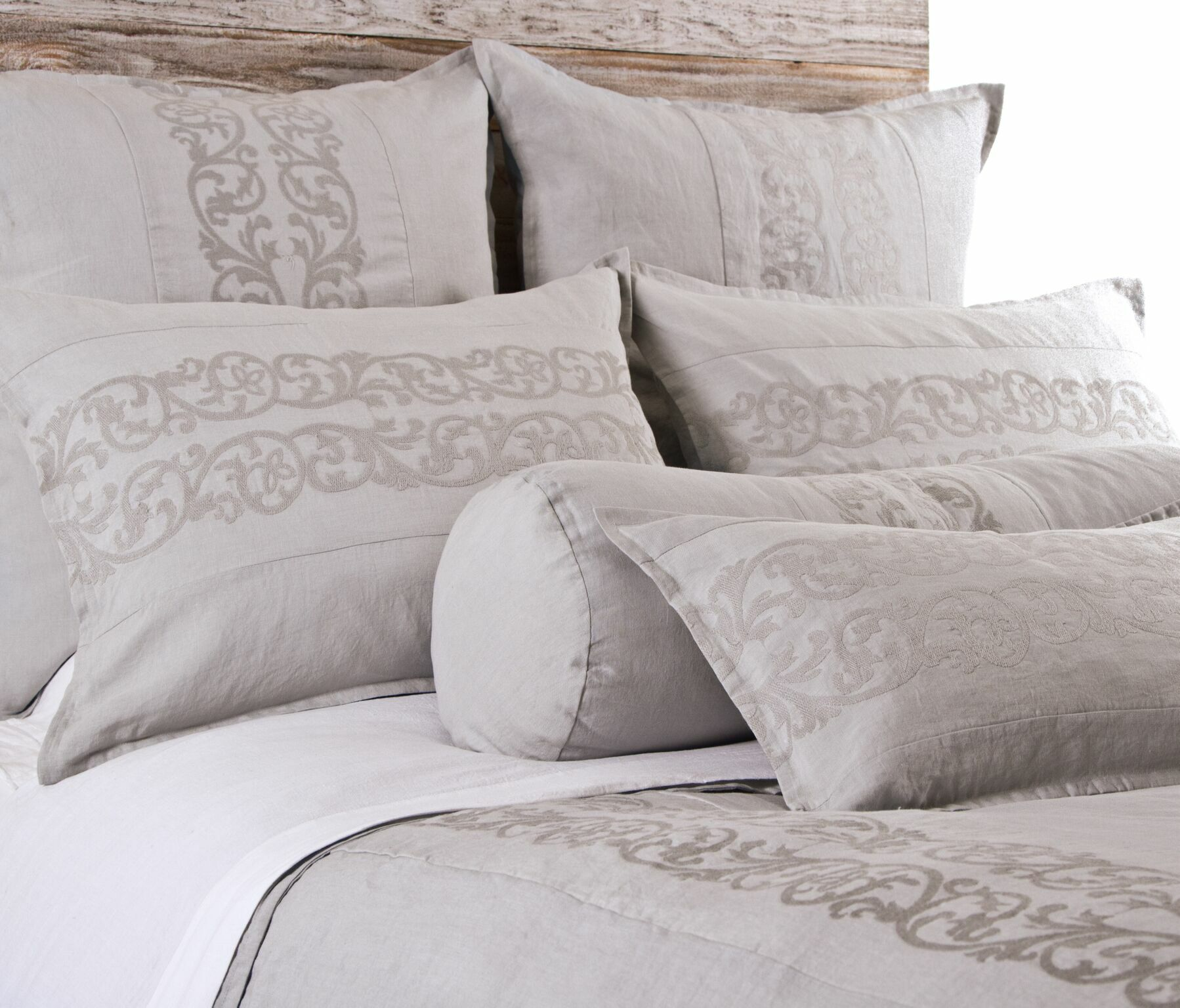 Allegra Sham Size: King, Color: Flax