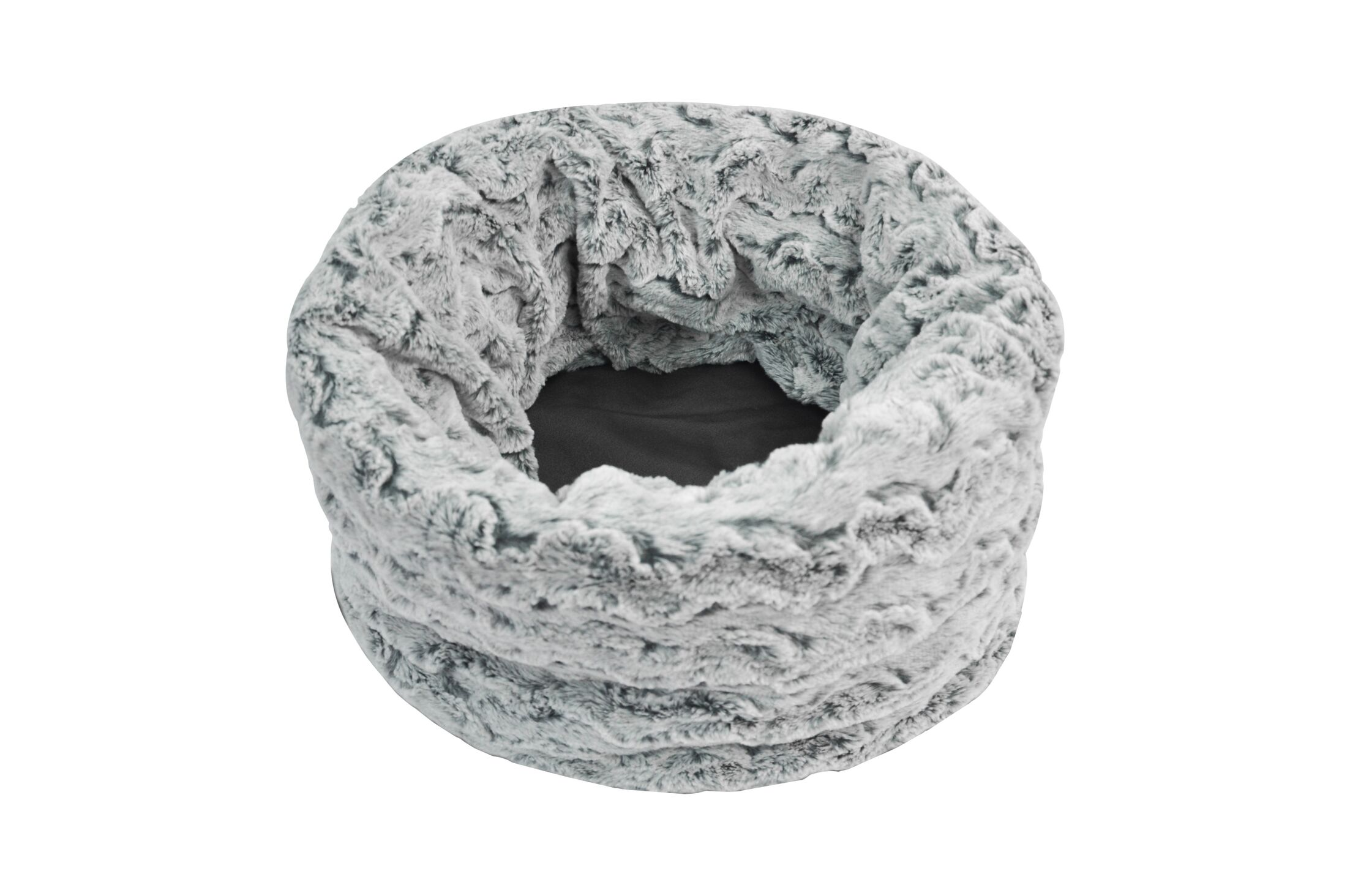 Snuggle Dog Sack with Reversible Faux Fur and Dirt Resistant Canvas Layers Size: Large, Color: Husky Gray