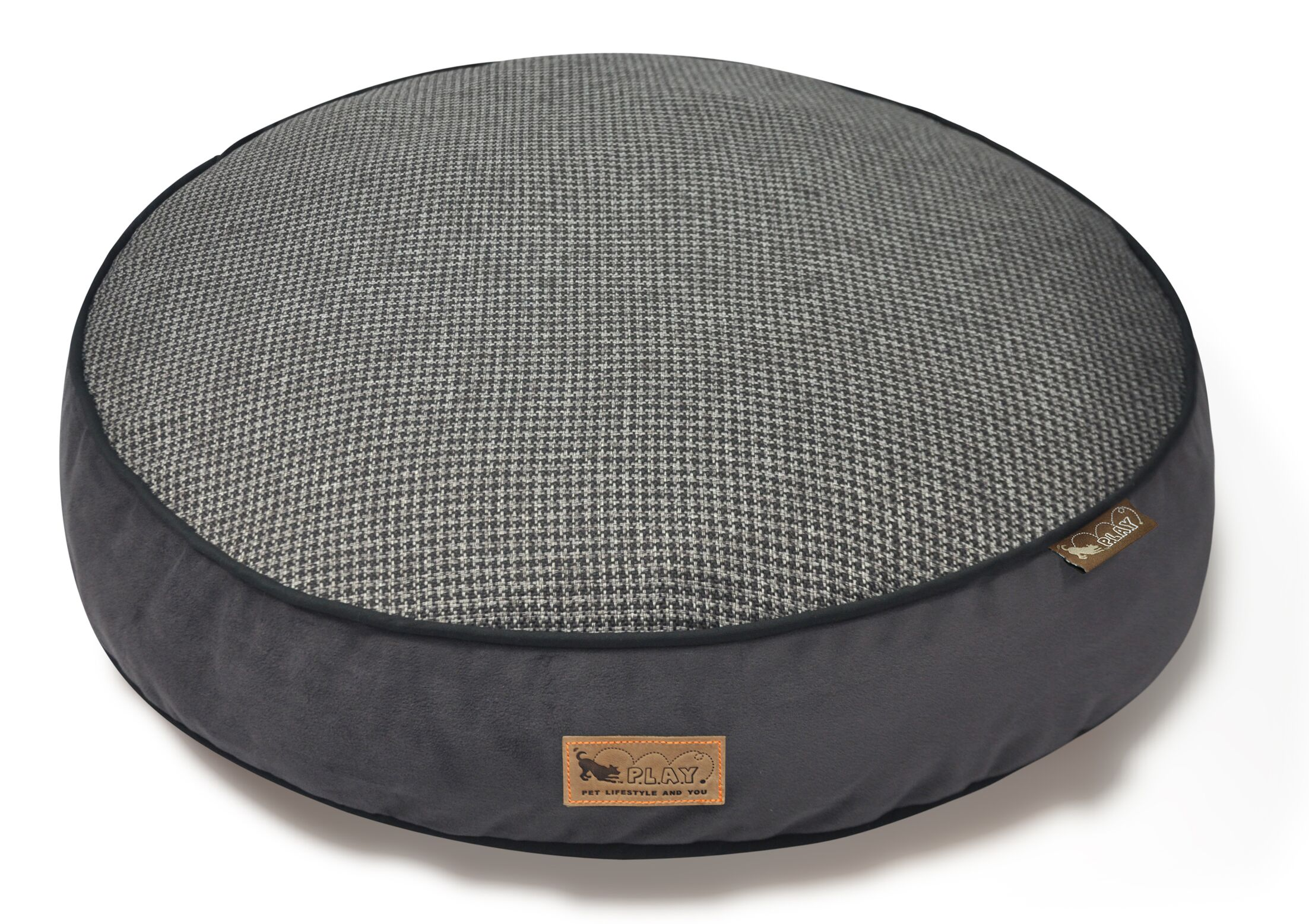Houndstooth Dog Bed Size: Small (27.5