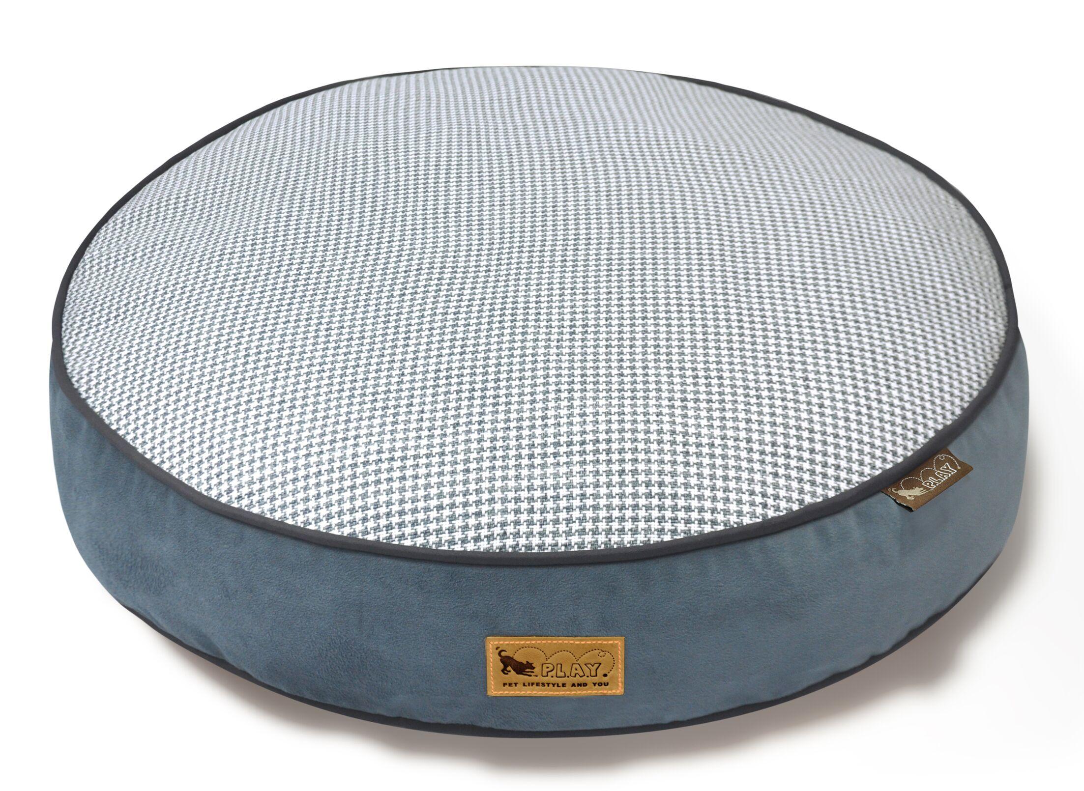Houndstooth Dog Bed Size: Medium (36