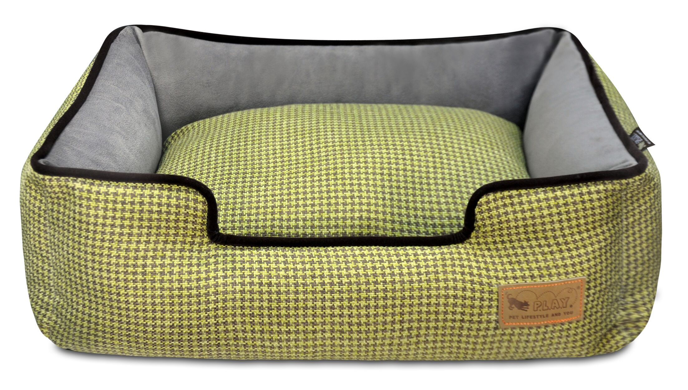 Houndstooth Lounge Dog Bed Size: Small (24