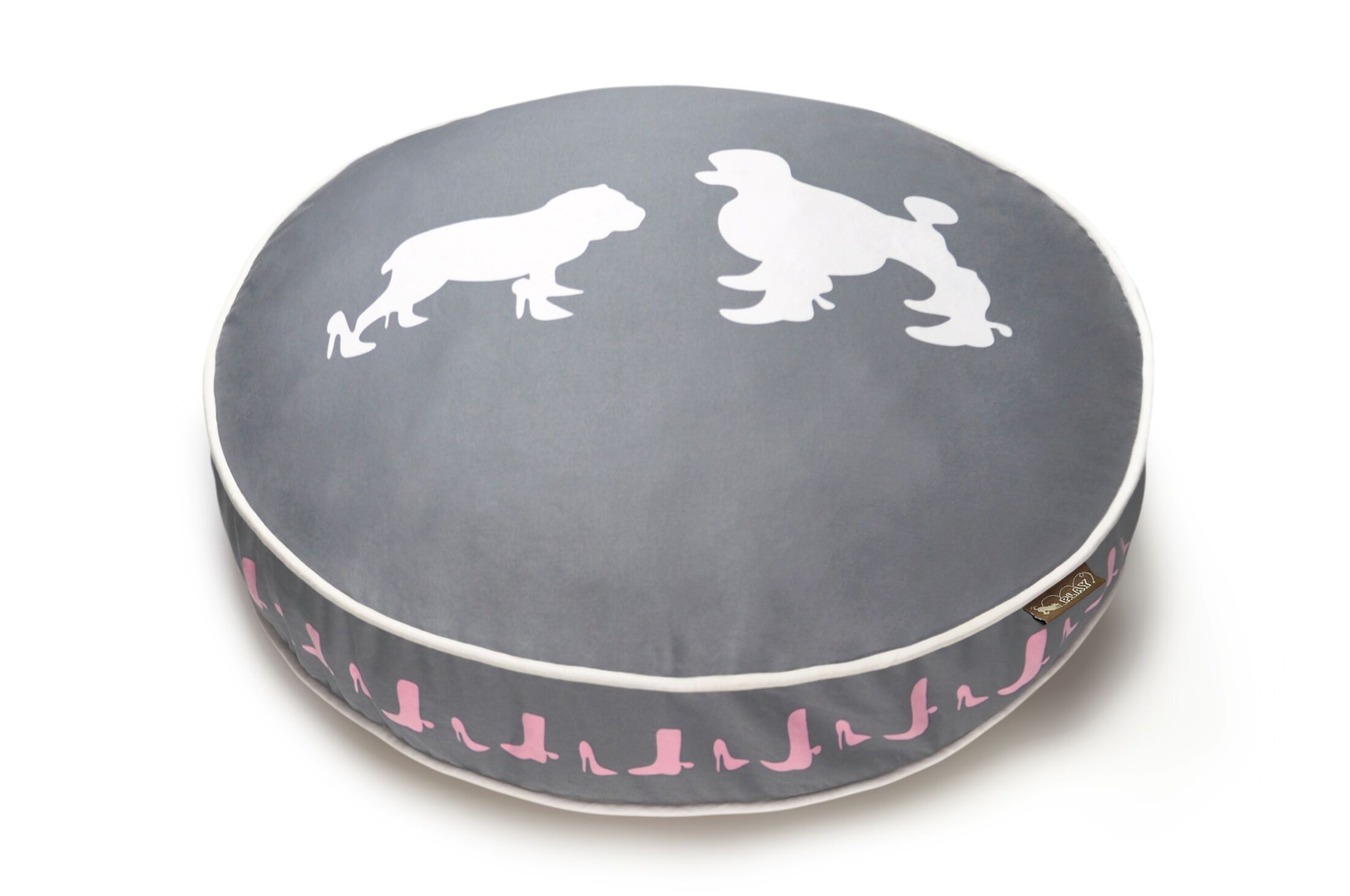 Cosmopolitan Heels and Boots Round Dog Pillow Size: Medium (36