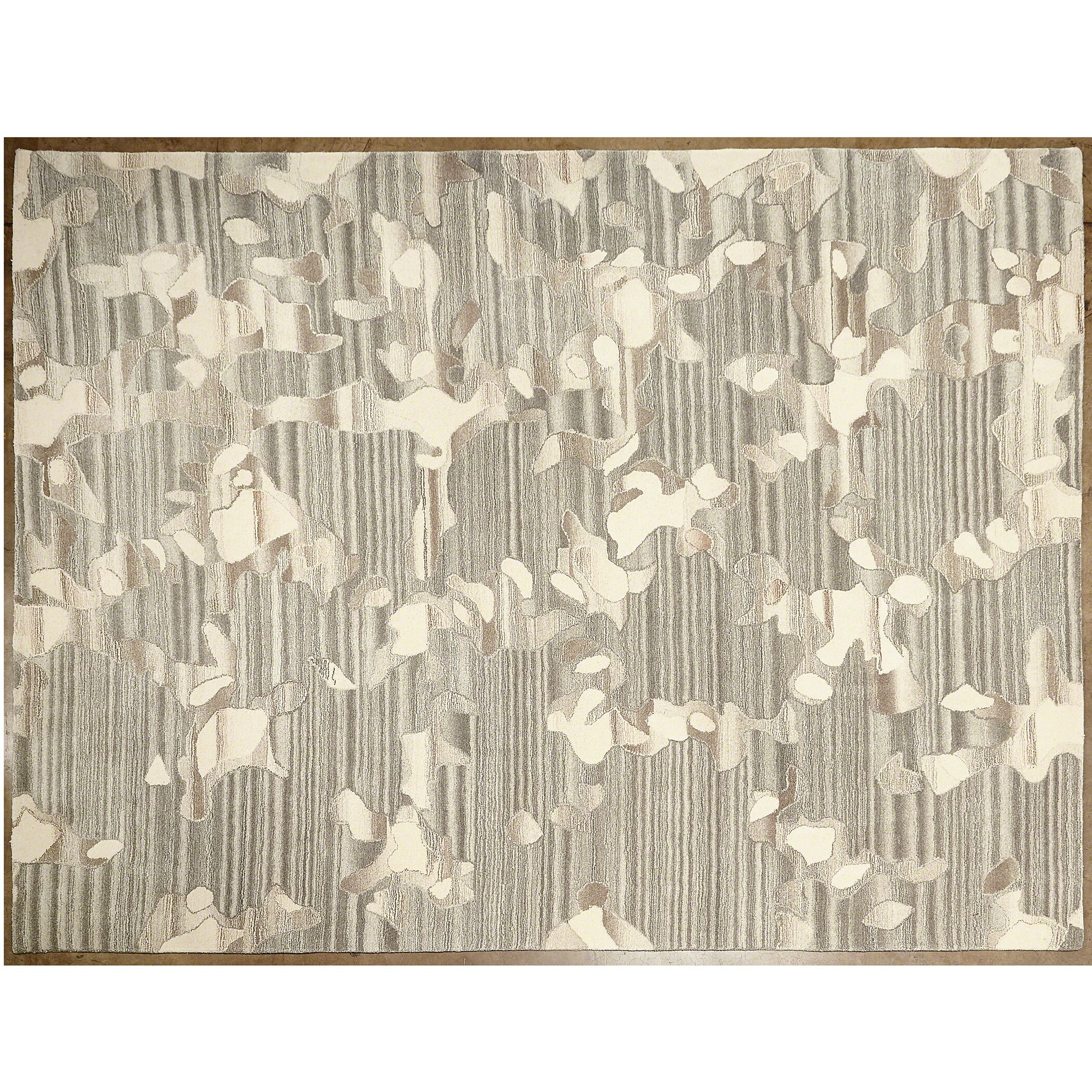 Anemone Gray/Ivory Area Rug Rug Size: Rectangle 9' x 12'