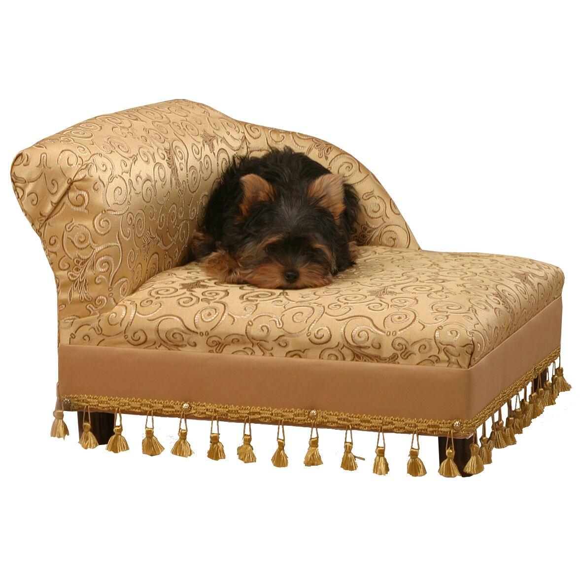 Mini Dog Chaise Elegant Color: Gold