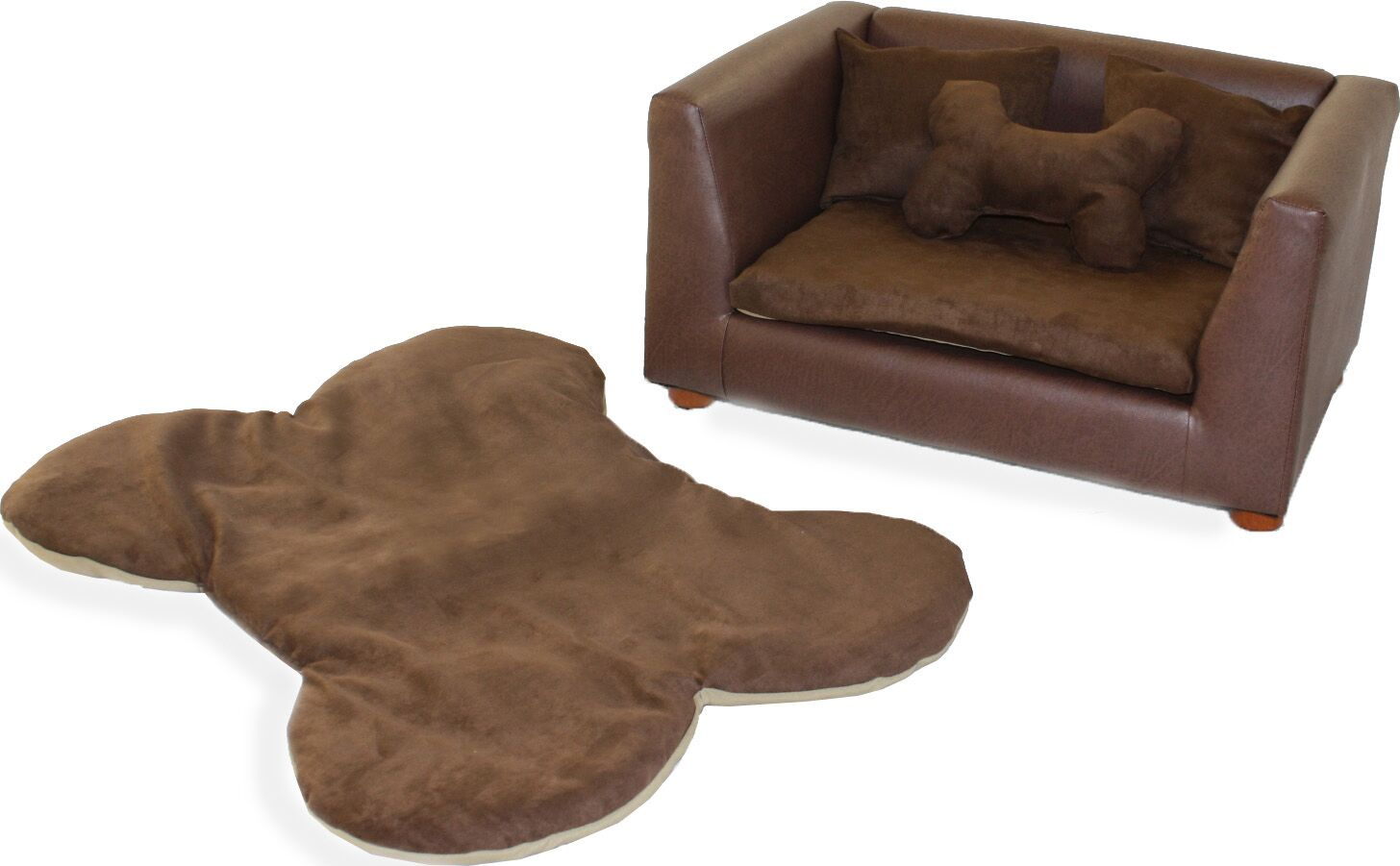 Ozzie Orthopedic Memory Foam Dog Chair Set Color: Brown, Size: Medium (28