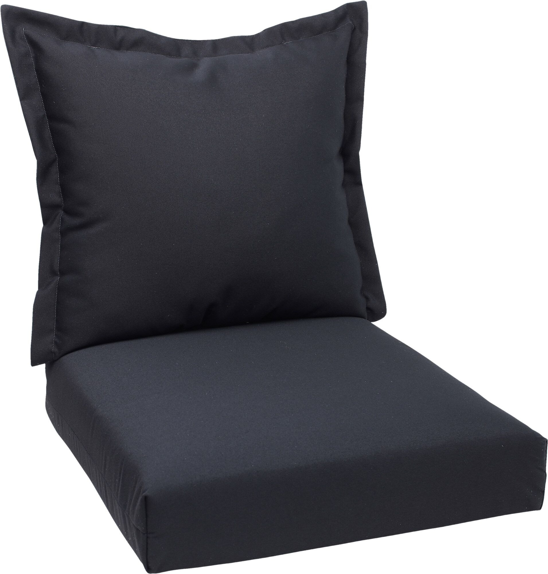 Indoor/Outdoor Lounge Chair Cushions Fabric: Black