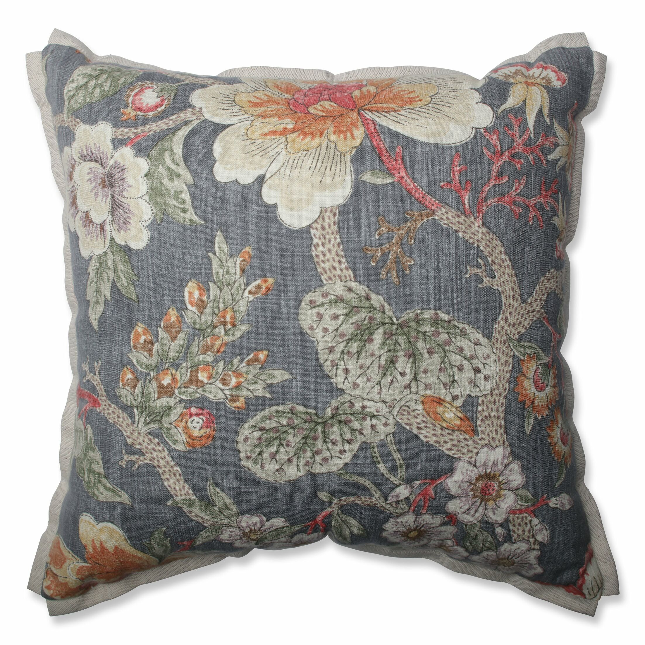 Room With A View Haze Cotton Throw Pillow Size: 16.5