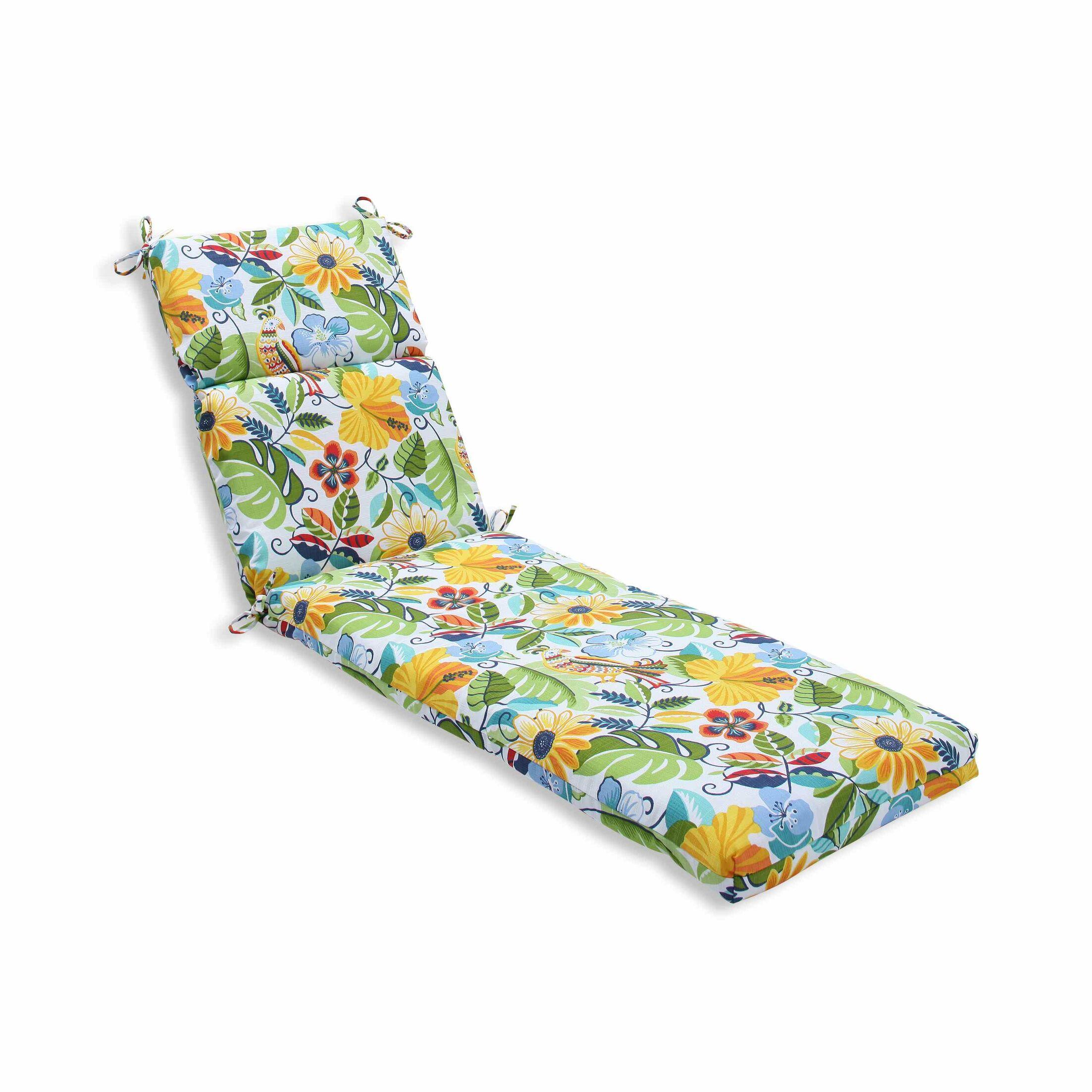 Guadaloue Indoor/Outdoor Chaise Lounge Cushion Color: Garden