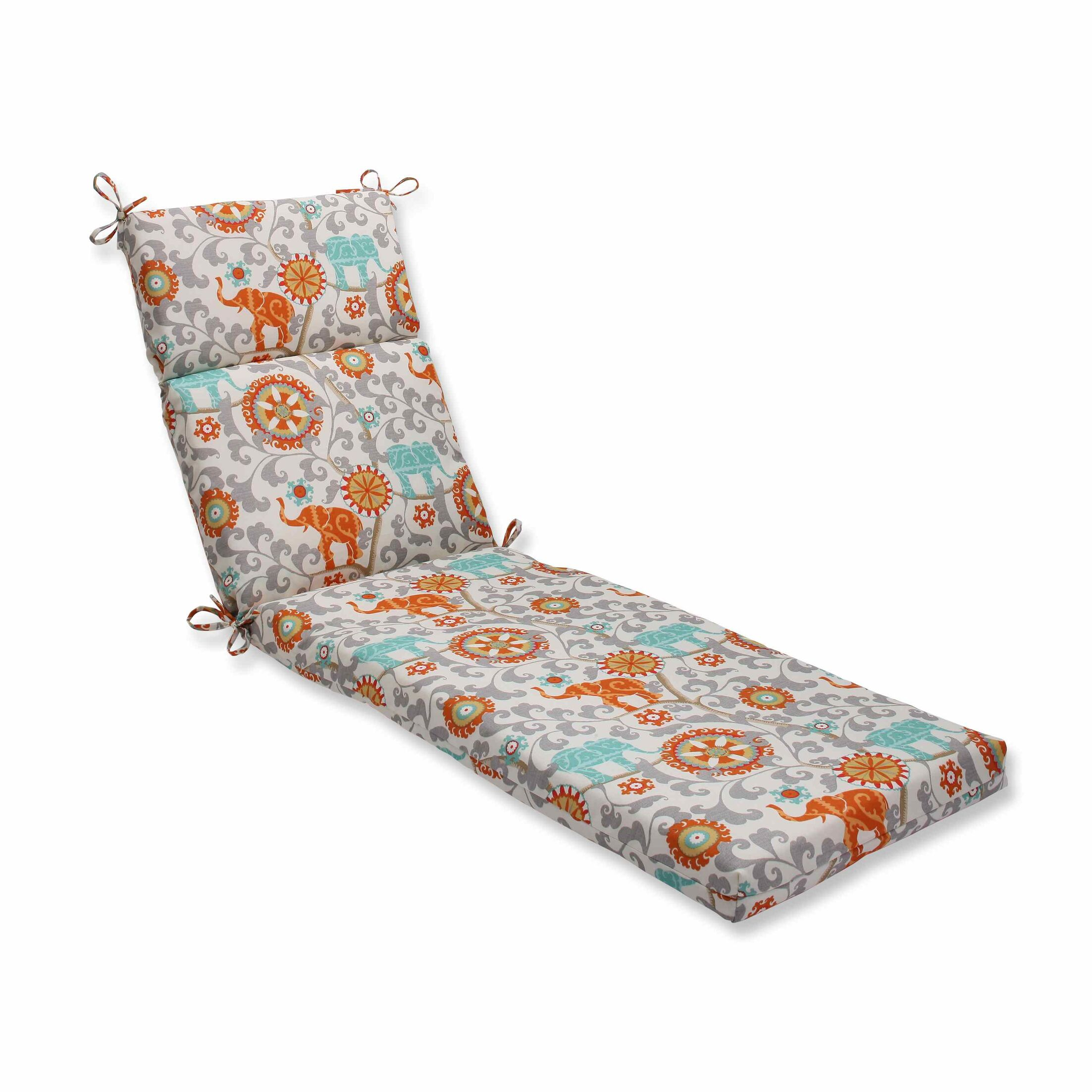 Menagerie Indoor/Outdoor Chaise Lounge Cushion Color: Cayenne