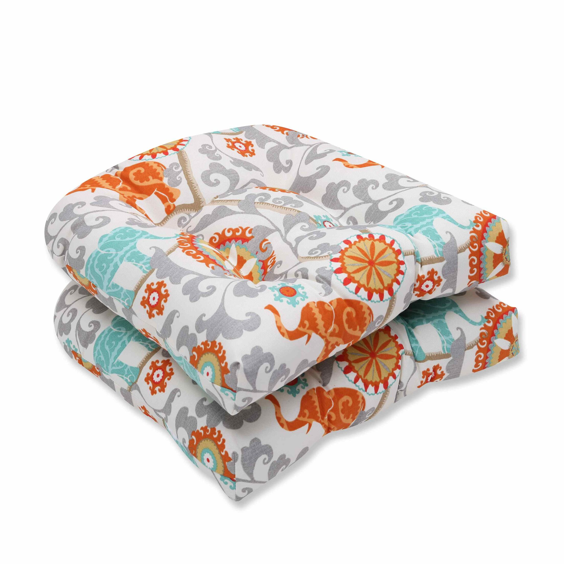 Menagerie Indoor/Outdoor Dining Chair Cushion Color: Cayenne