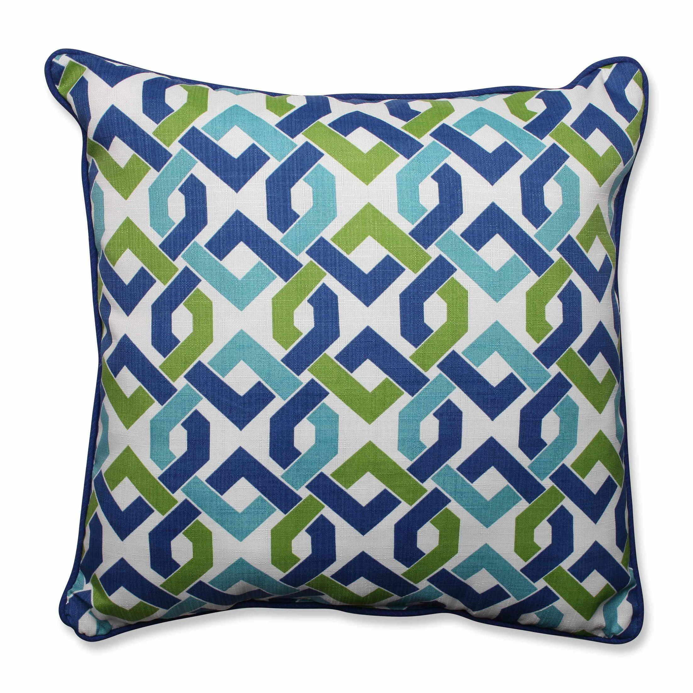 Reiser Indoor/Outdoor Floor Pillow Color: Lagoon