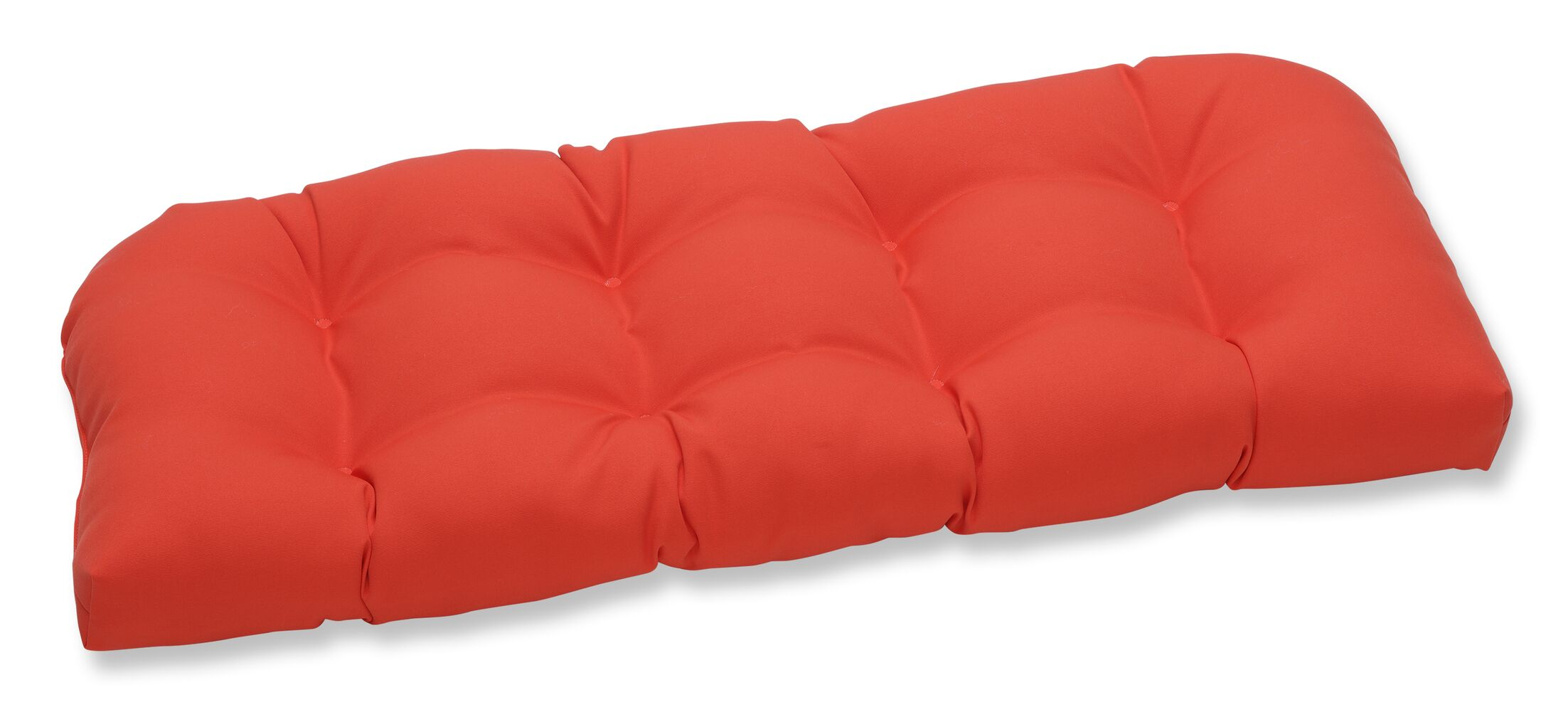 Splash Indoor/Outdoor Loveseat Cushion Fabric: Mango
