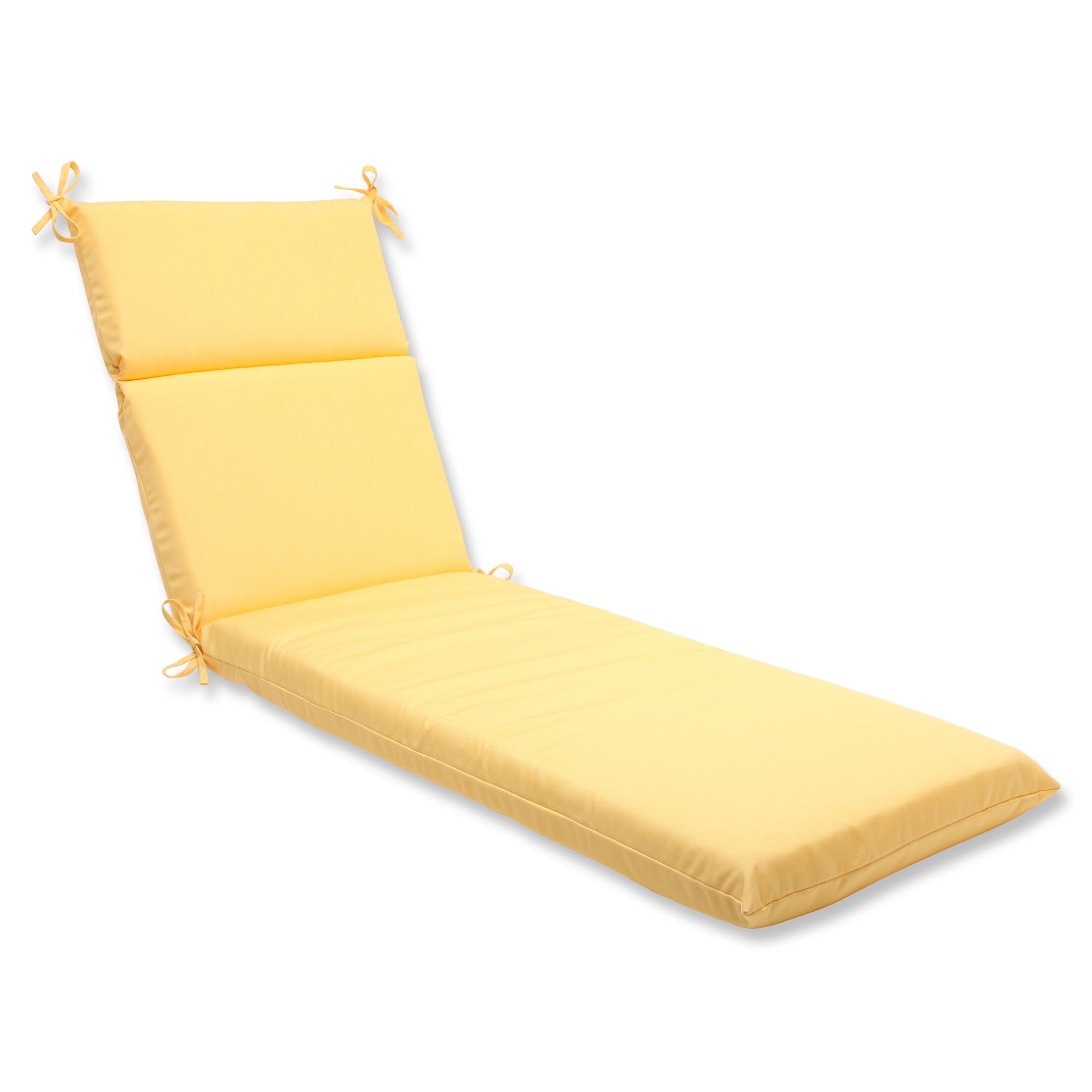 Canvas Indoor/Outdoor Chaise Lounge Cushion Fabric: Buttercup