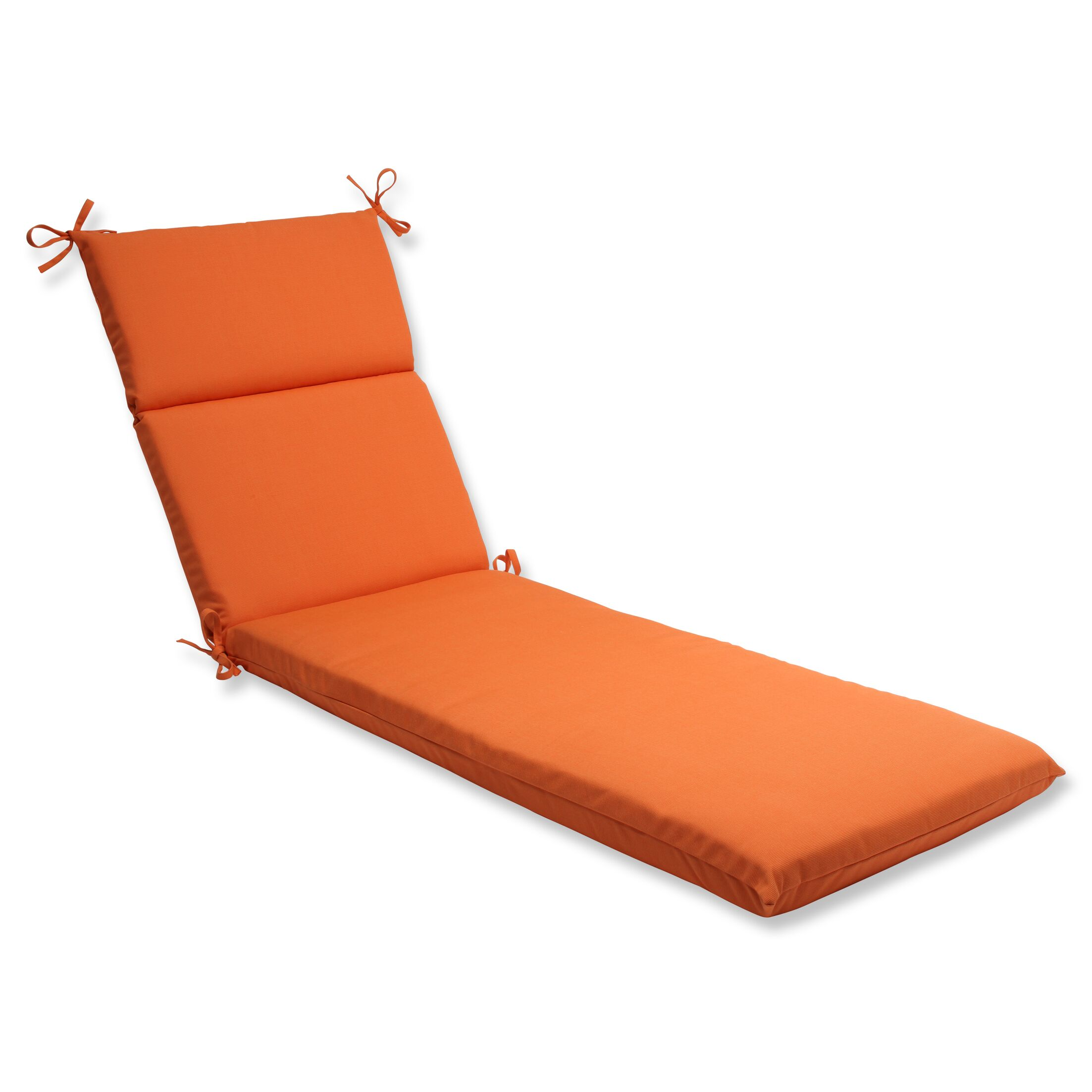 Canvas Indoor/Outdoor Chaise Lounge Cushion Fabric: Tangerine