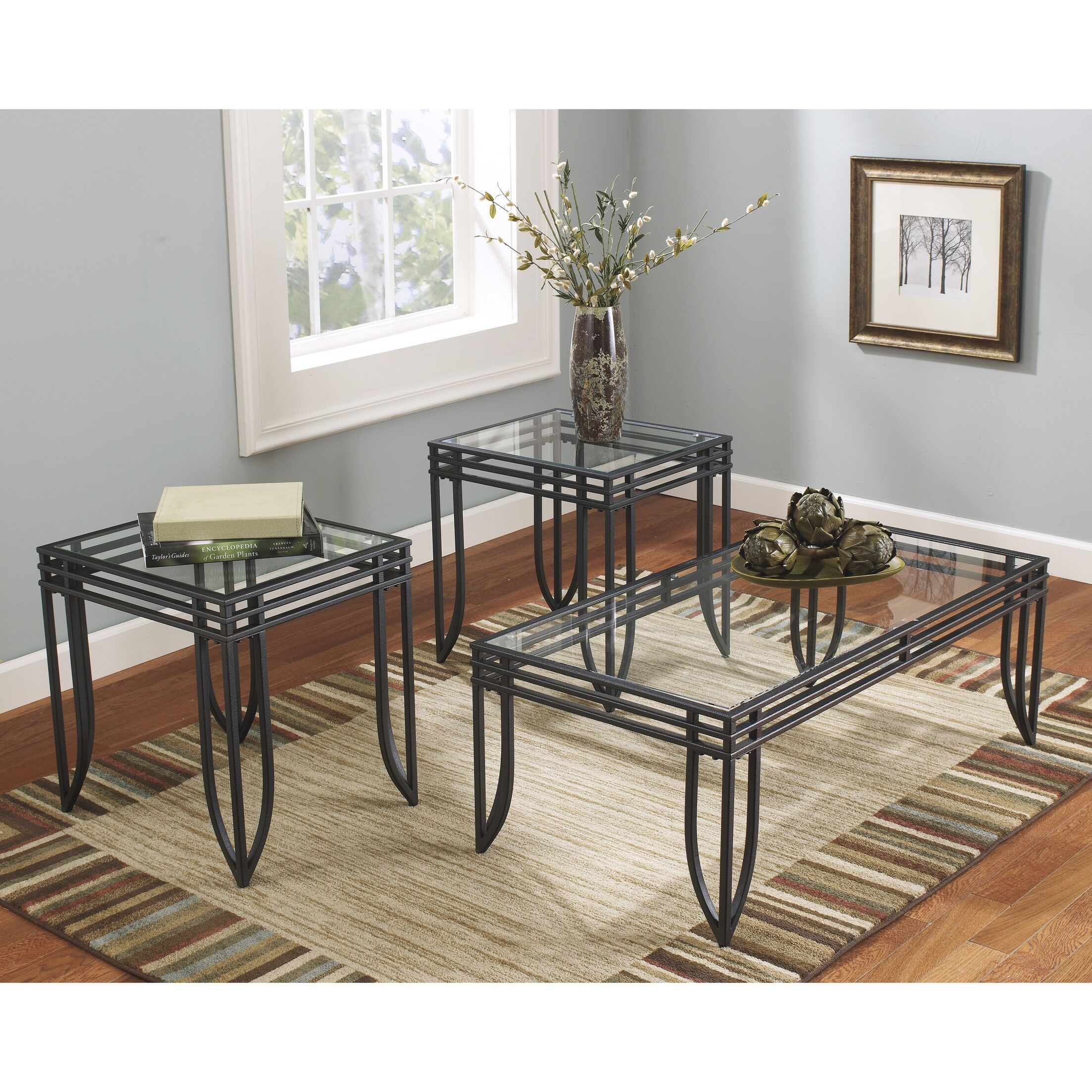 Ashwin 3 Piece Coffee Table Set