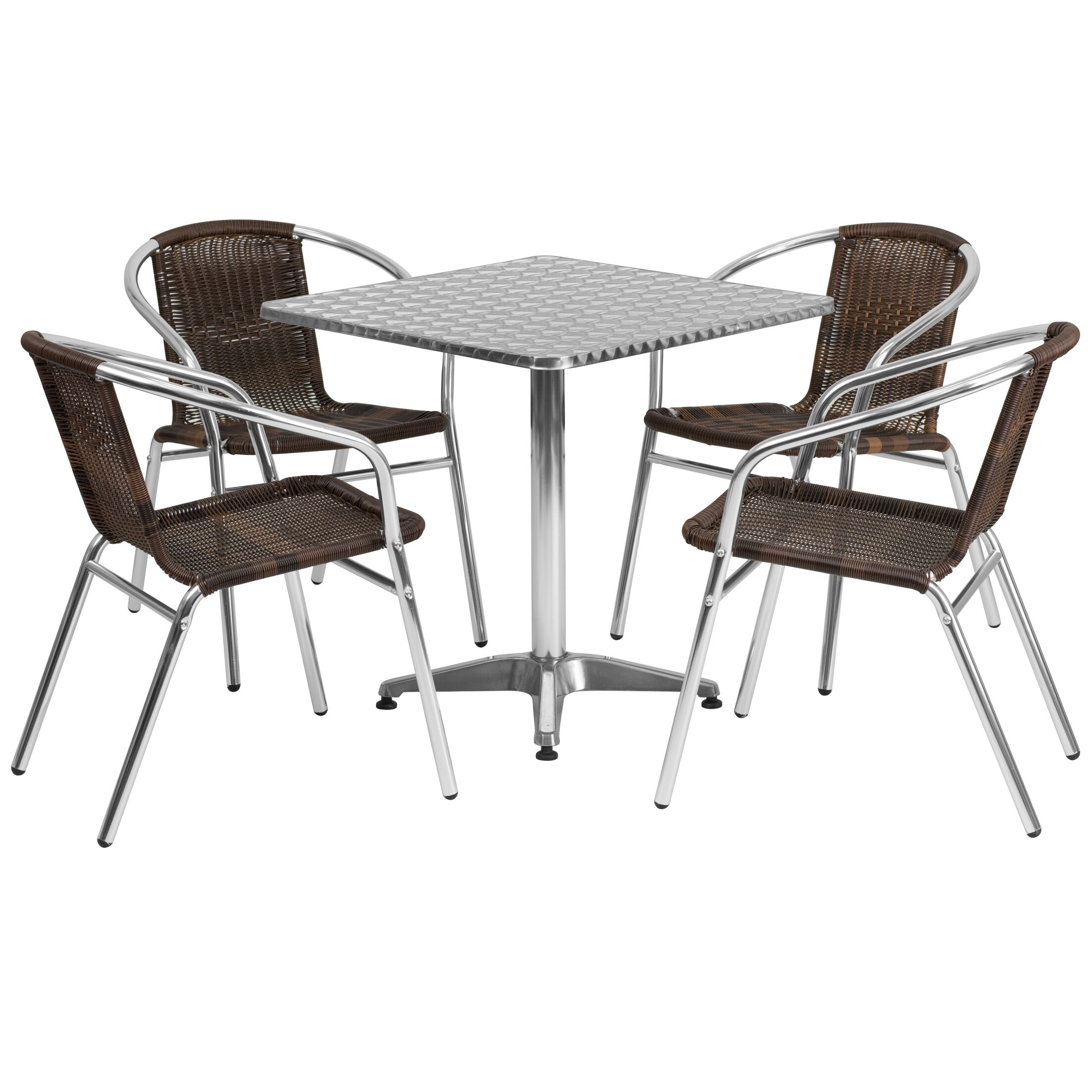 Cathlene Square 5 Piece Dining Set Table Size: 27.25