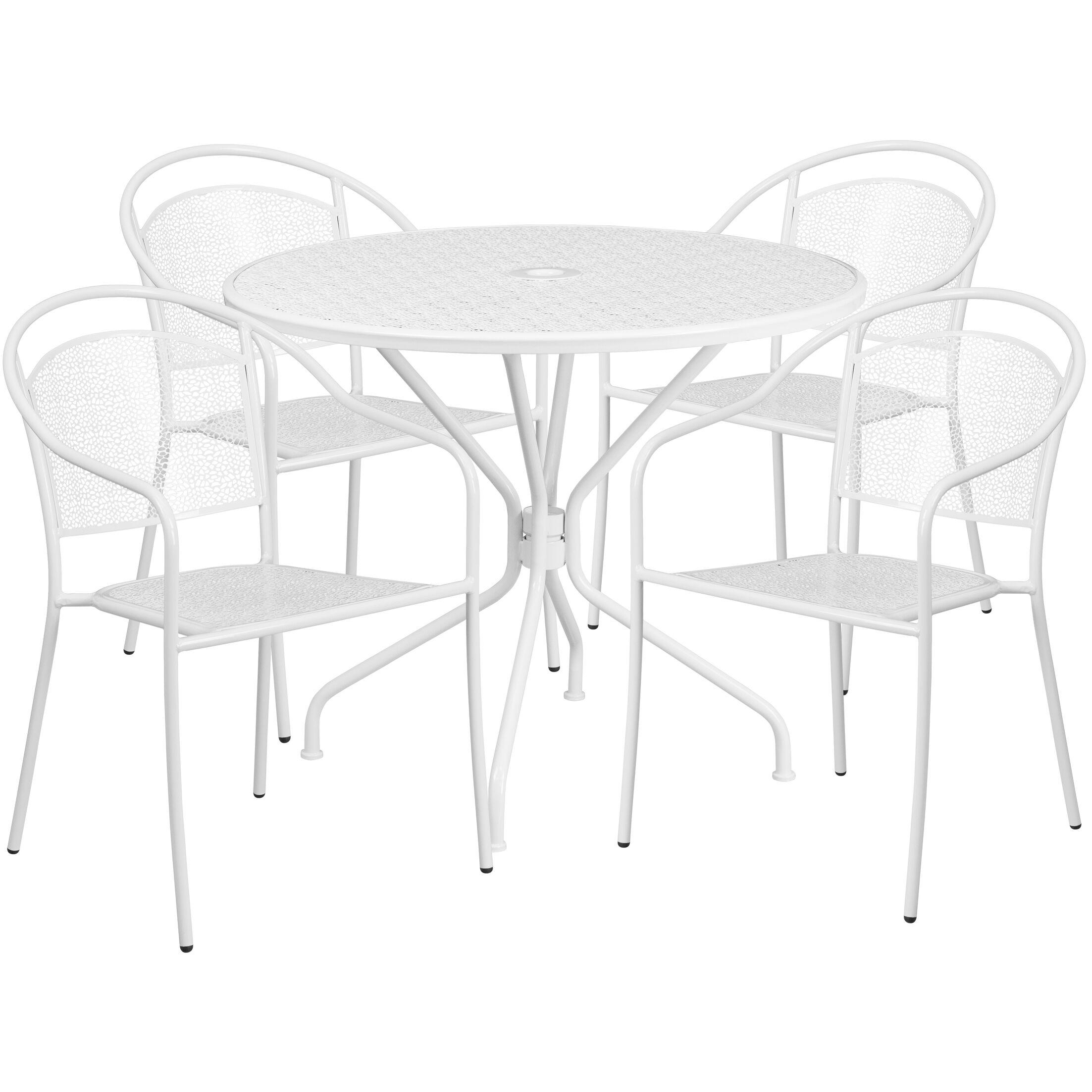 Hoyt 5 Piece Dining Set Color: White