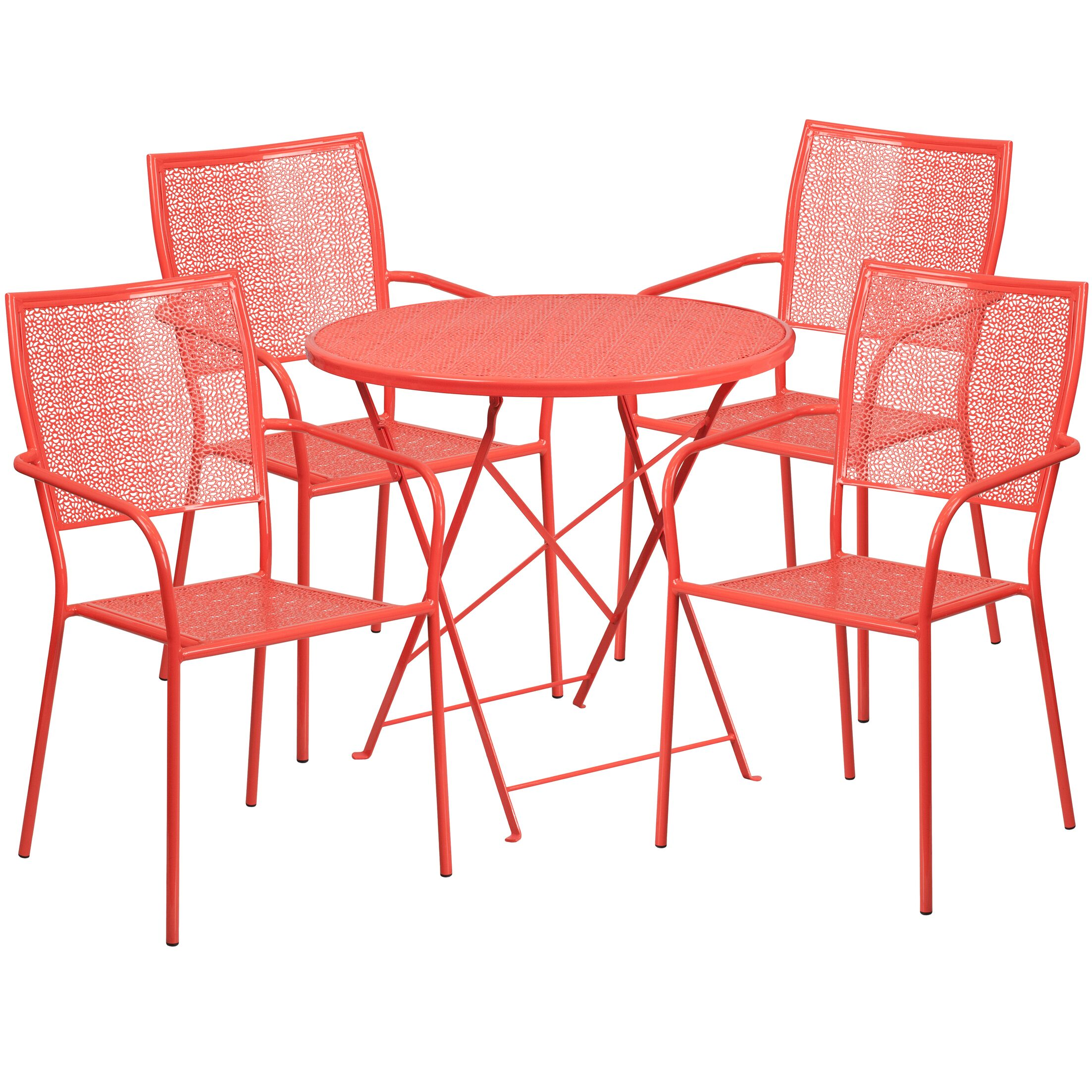 Abe 5 Piece Dining Set Color: Coral