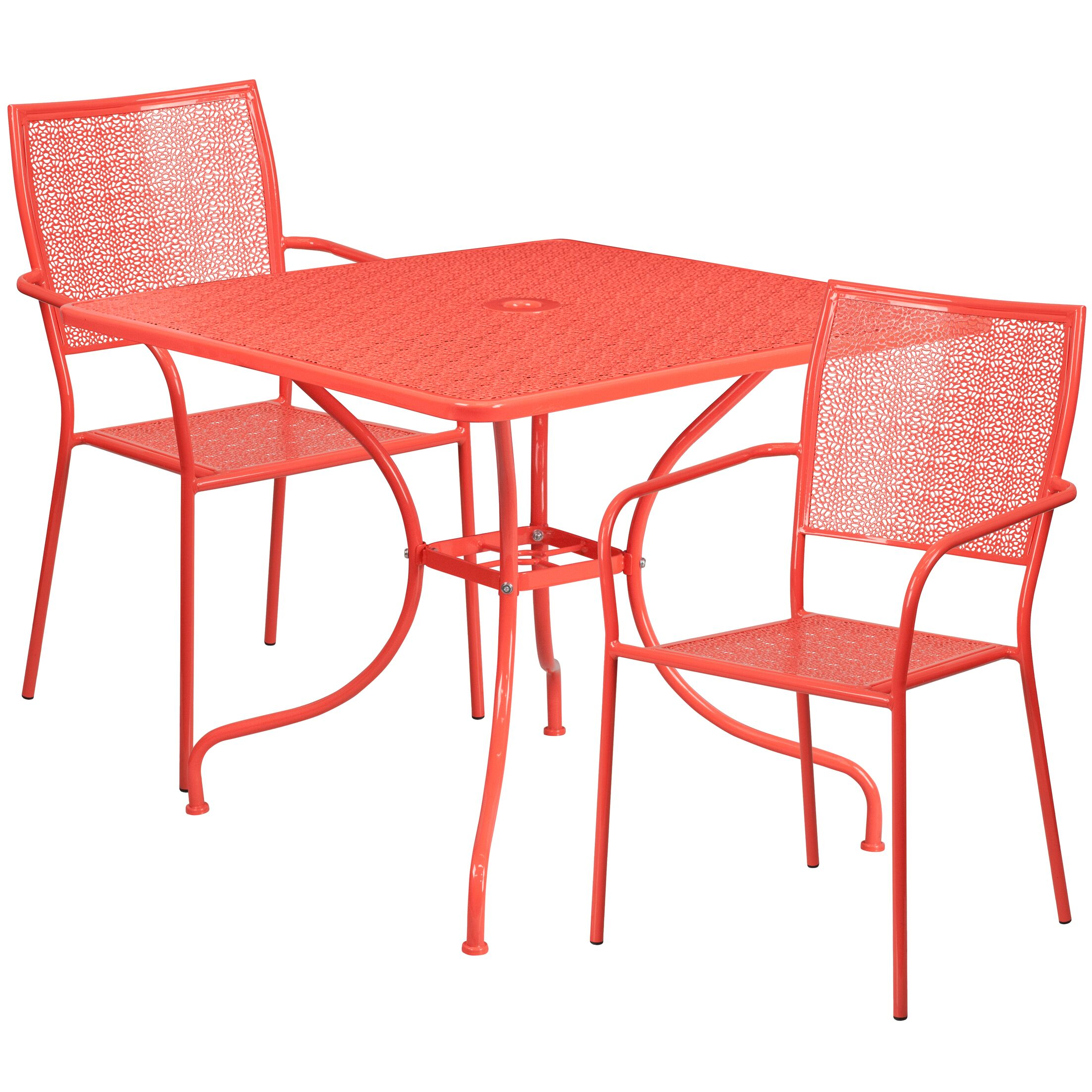 Janeth 3 Piece Bistro Set Finish: Coral