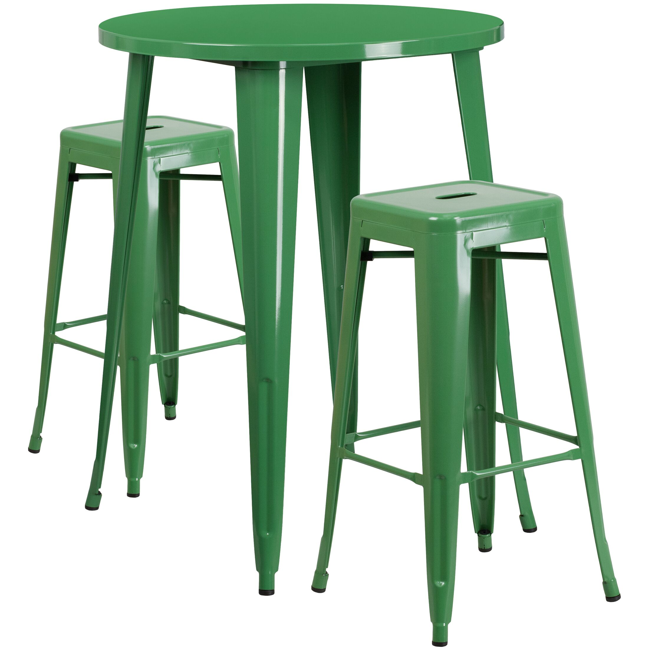 Mcmorrow 3 Piece Bar Height Dining Set Color: Green, Table Size: 41