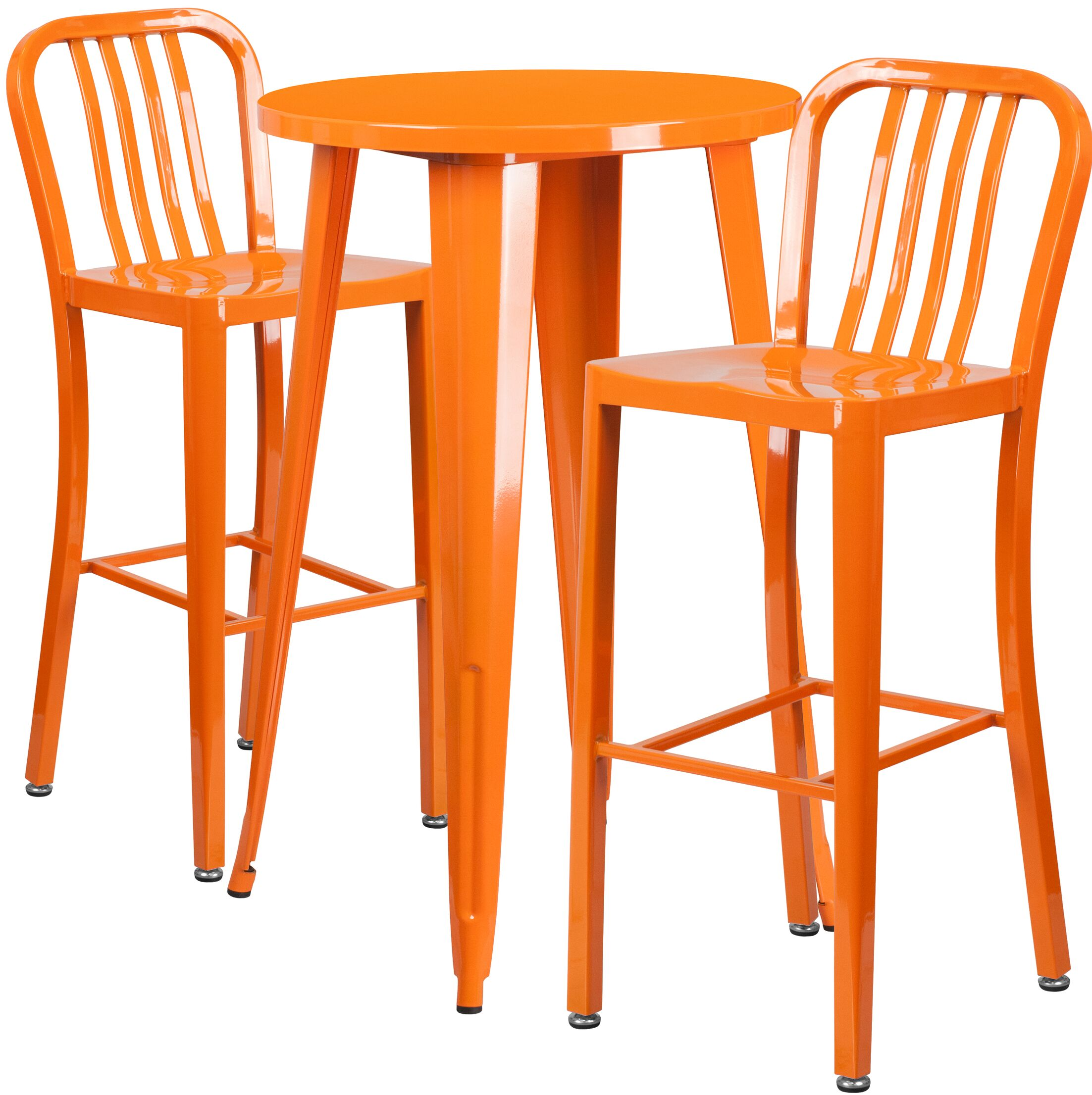 Sass 3 Piece Bar Height Dining Set Finish: Orange