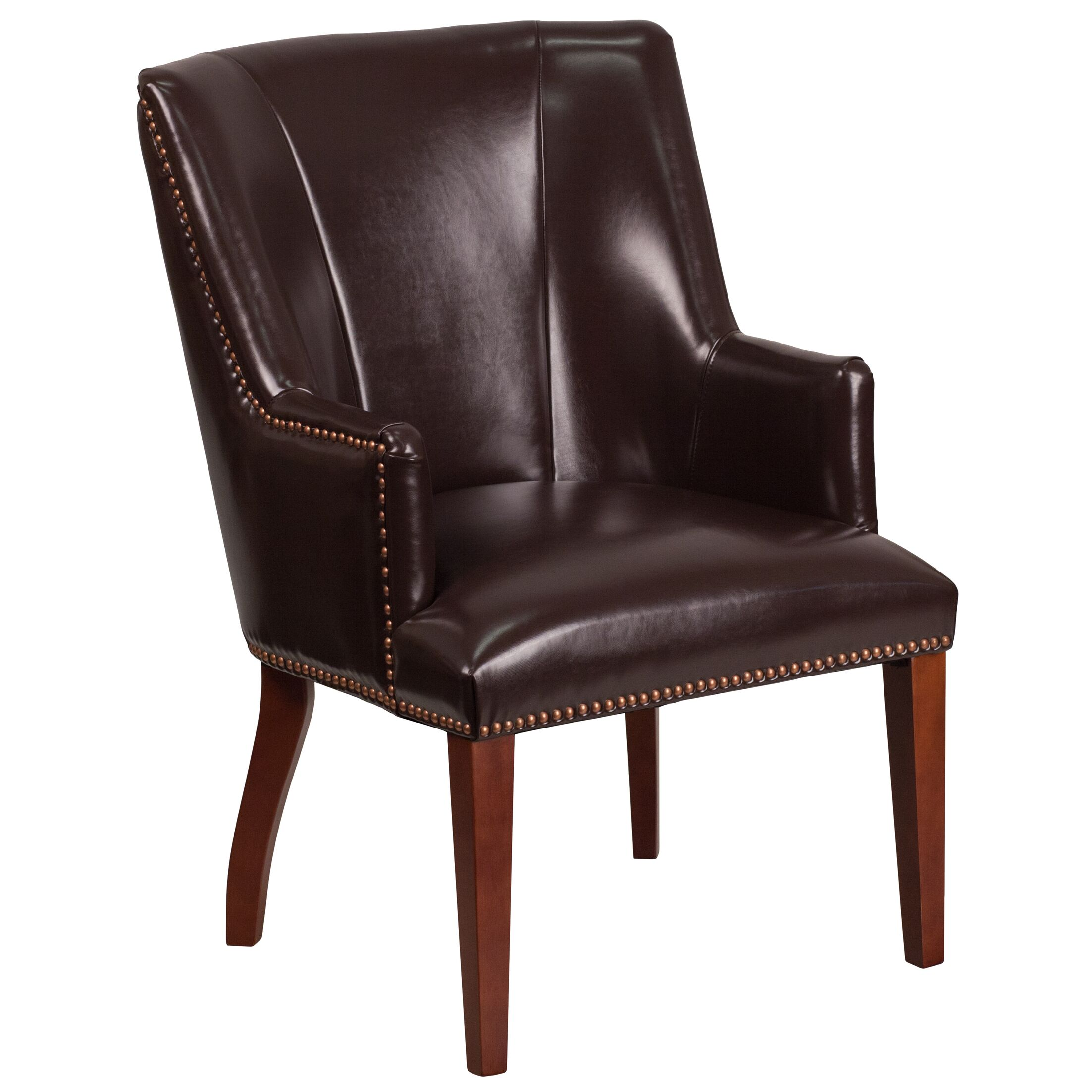 Deontaye Leather Guest Chair Seat Color: Brown