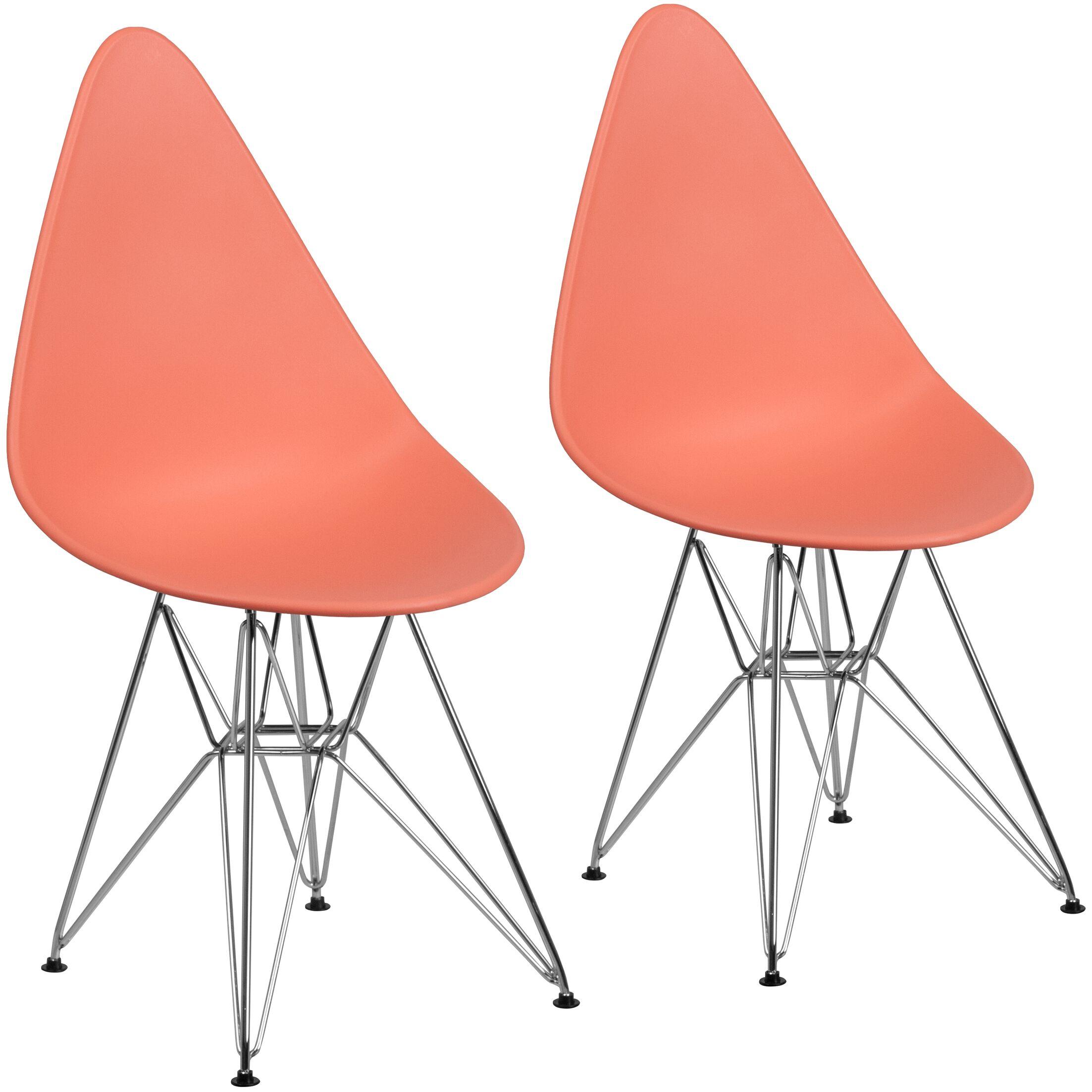 Resto Guest Chair Seat Color: Peach