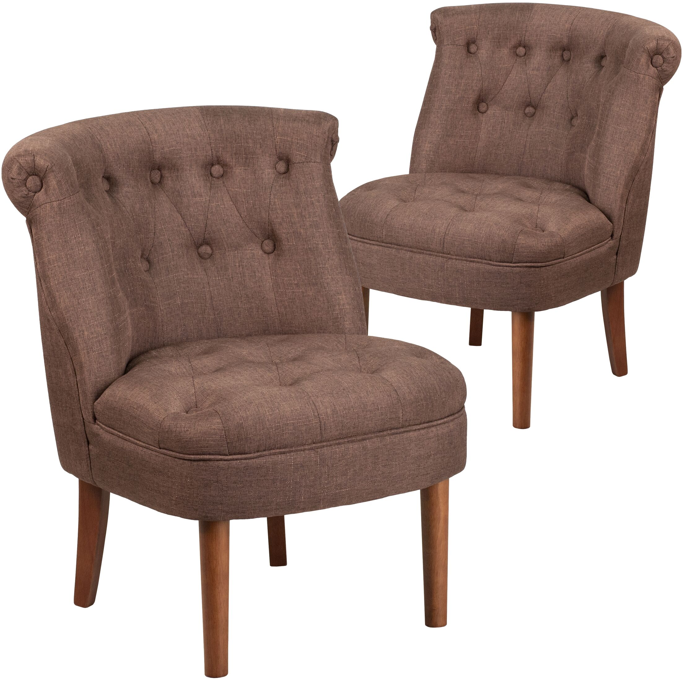 Orland Modern Side Chair Upholstery: Brown