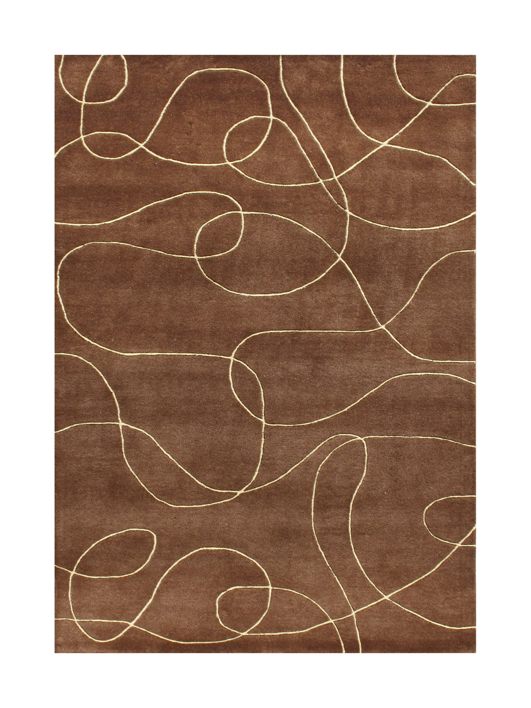 New Zealand Handmade Brown Area Rug Rug Size: 10' x 12'