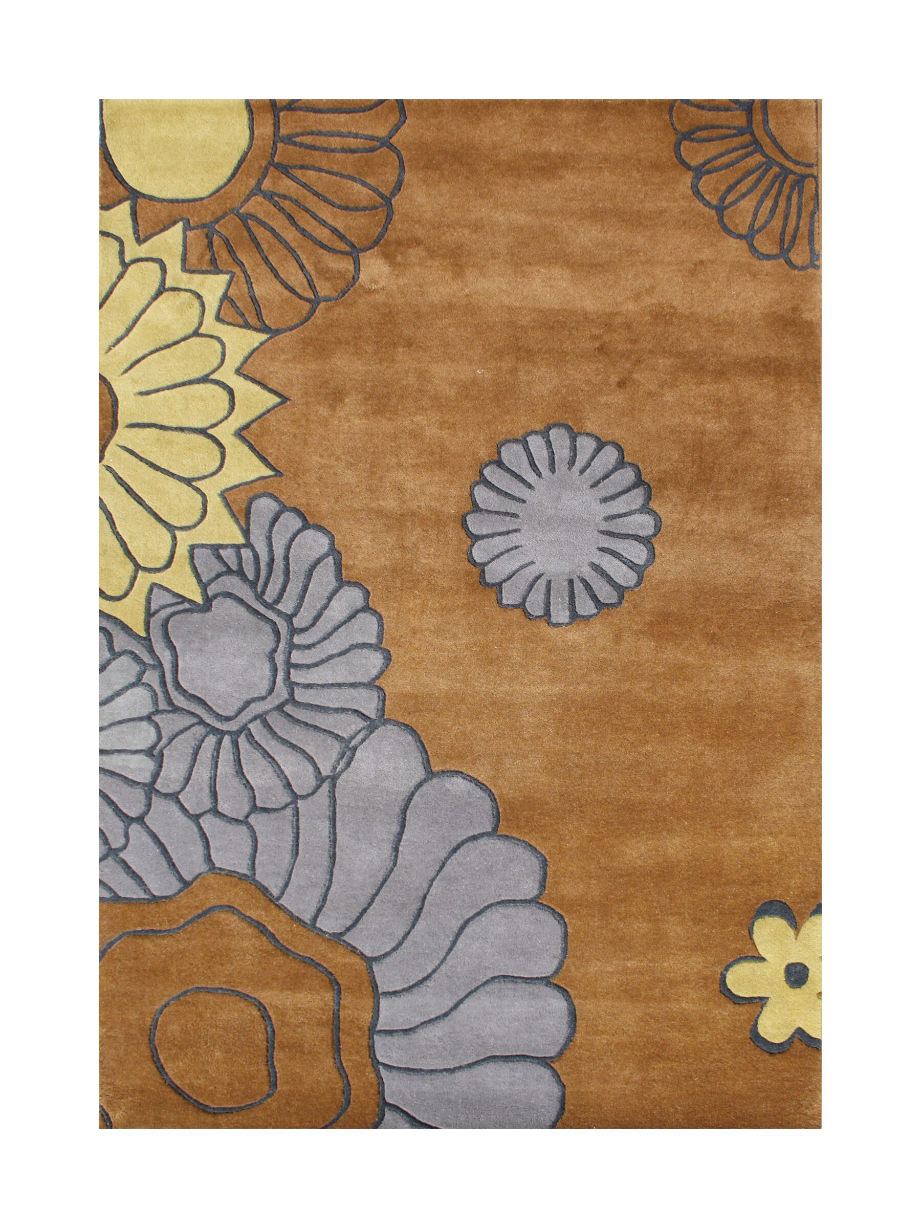 New Zealand Handmade Brown Area Rug