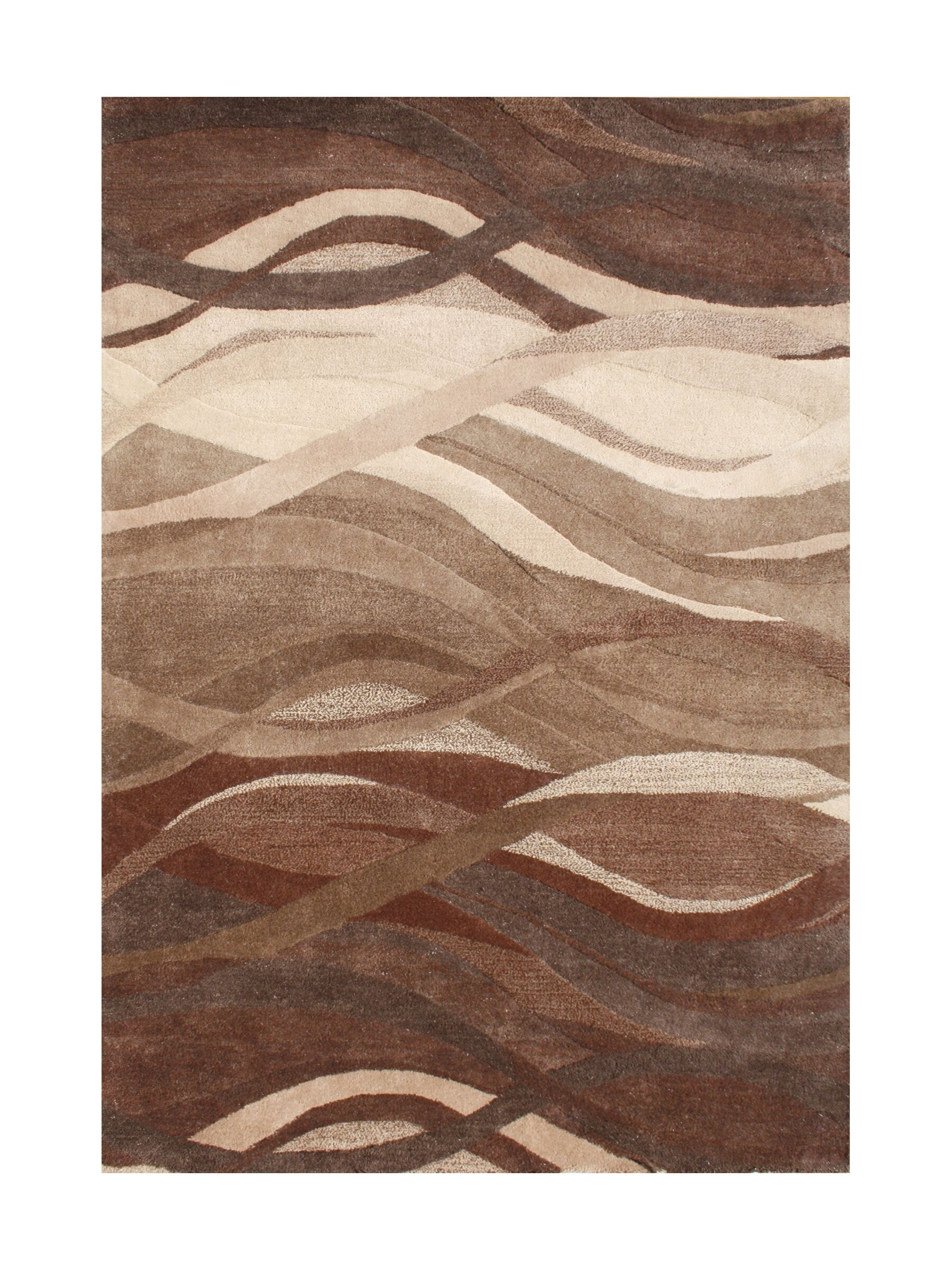 New Zealand Handmade Tobacco Brown Area Rug