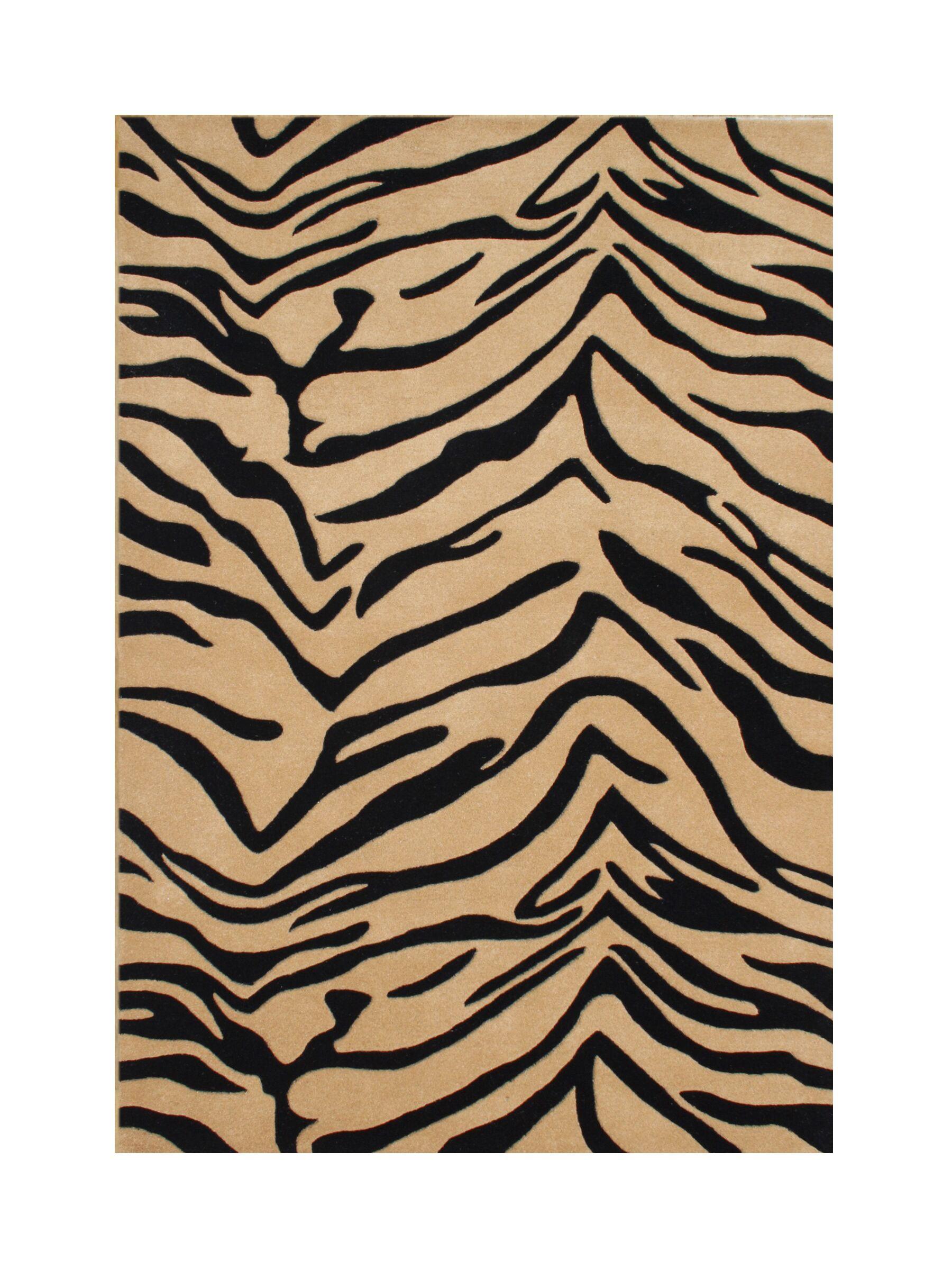 New Zealand Handmade Black/Brown Area Rug Rug Size: 5' x 8'