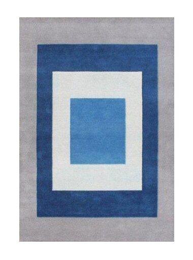 Fassett The Beautiful Crisp Hand-Woven Blue Area Rug Rug Size: 8' X 10'