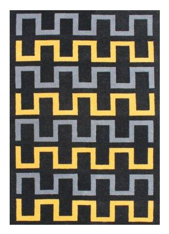 Ginger Hand-Woven Black Area Rug Rug Size: 5' X 8'