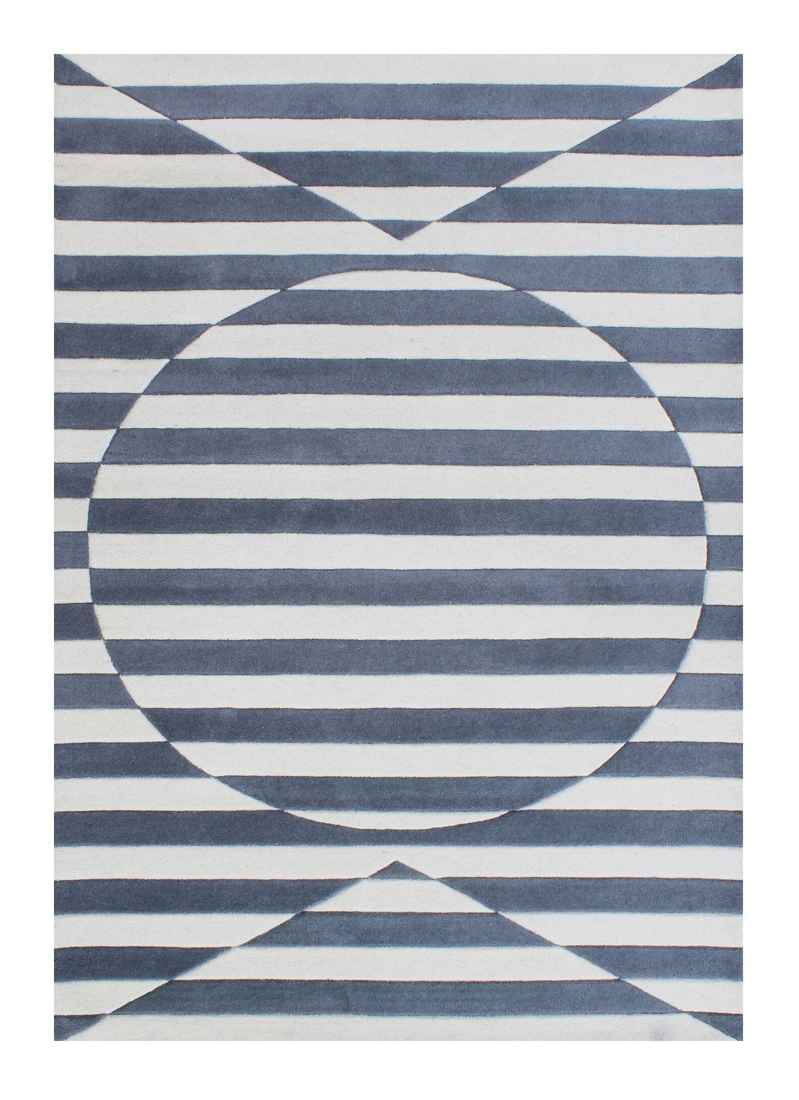 Darnall Hand-Woven Gray Area Rug Rug Size: 8' X 10'