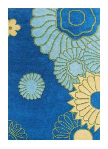 Essex Hand-Woven Blue/Green Area Rug Rug Size: 5' X 8'