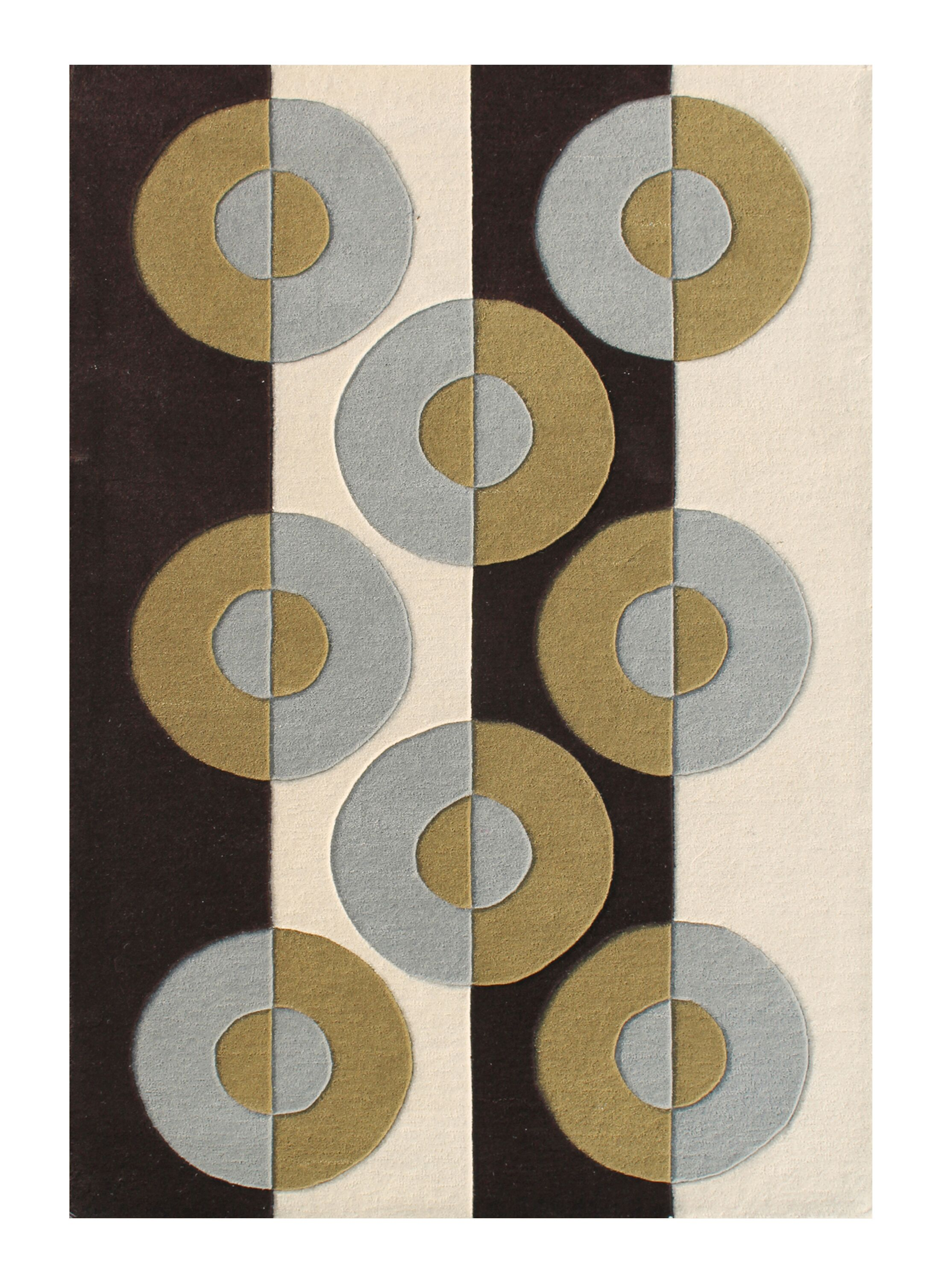 Ellington Hand-Woven Beige/Brown Area Rug Rug Size: 5' X 8'