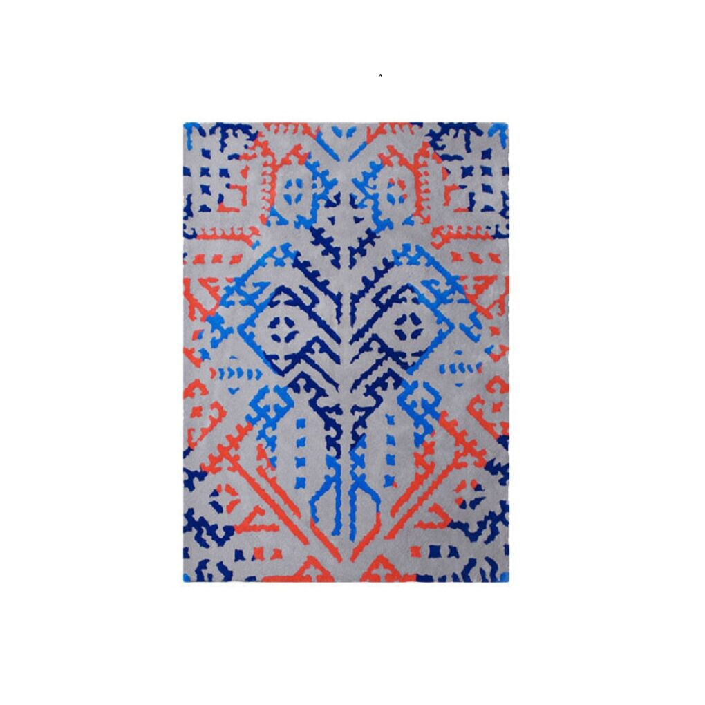 Brightlands Hand Tufted Wool Blue/Red Area Rug